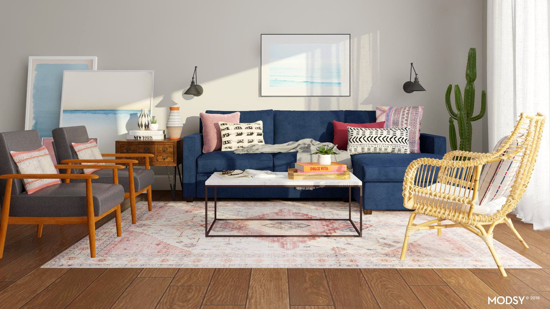 Colorful South West Living Room