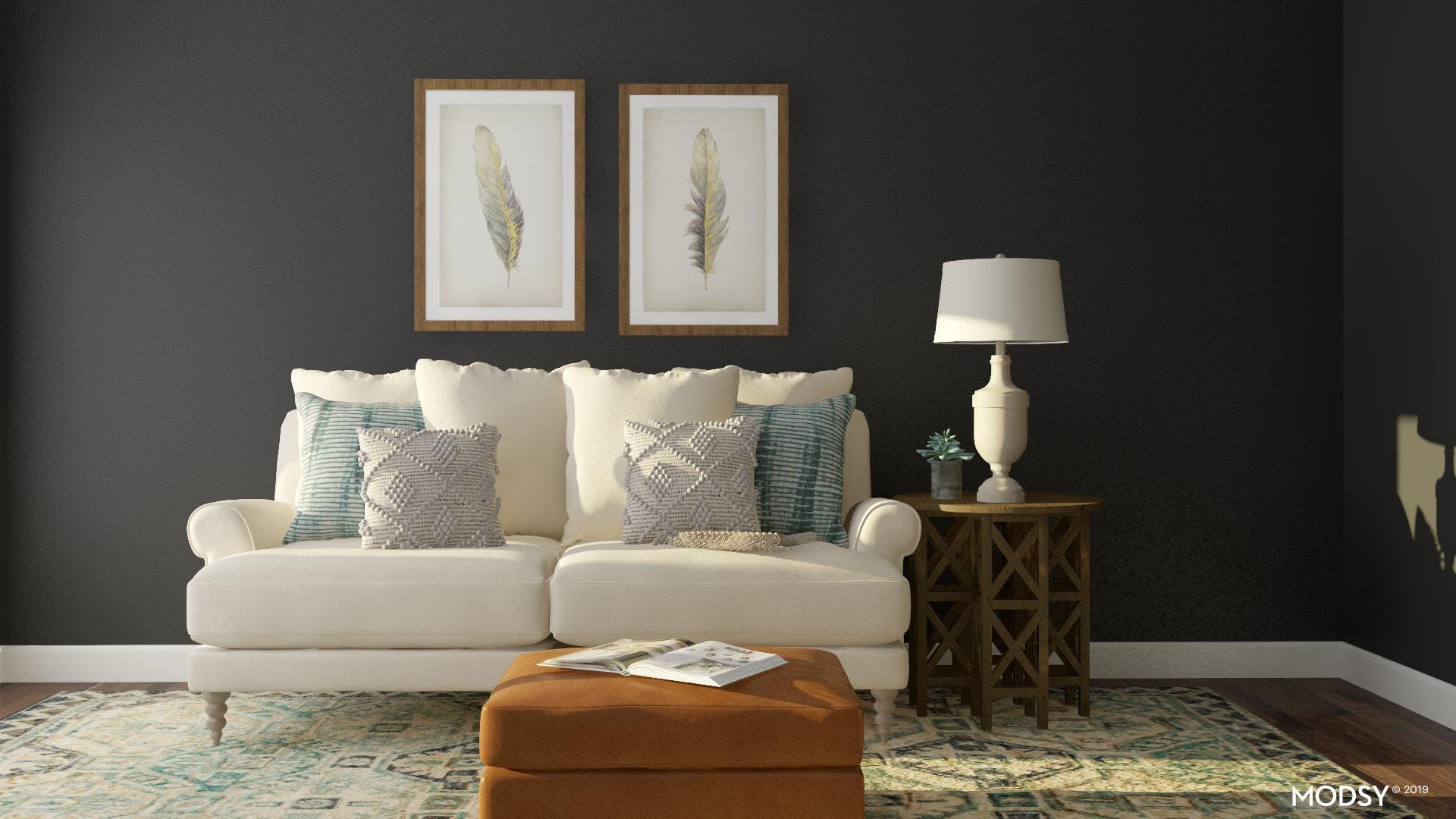 A Classically Bold Living Room