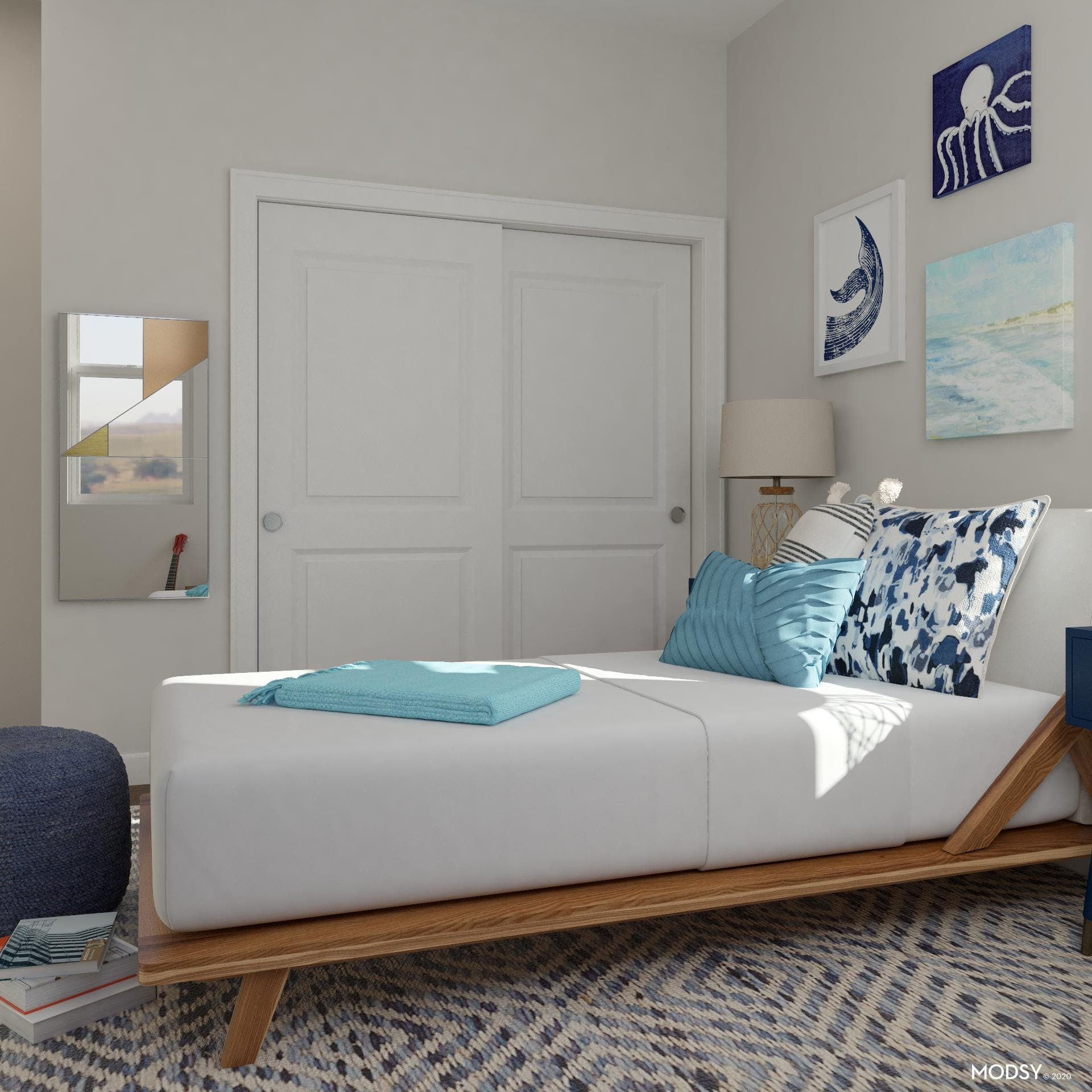 Kids' Room with Relaxing Coastal Blue