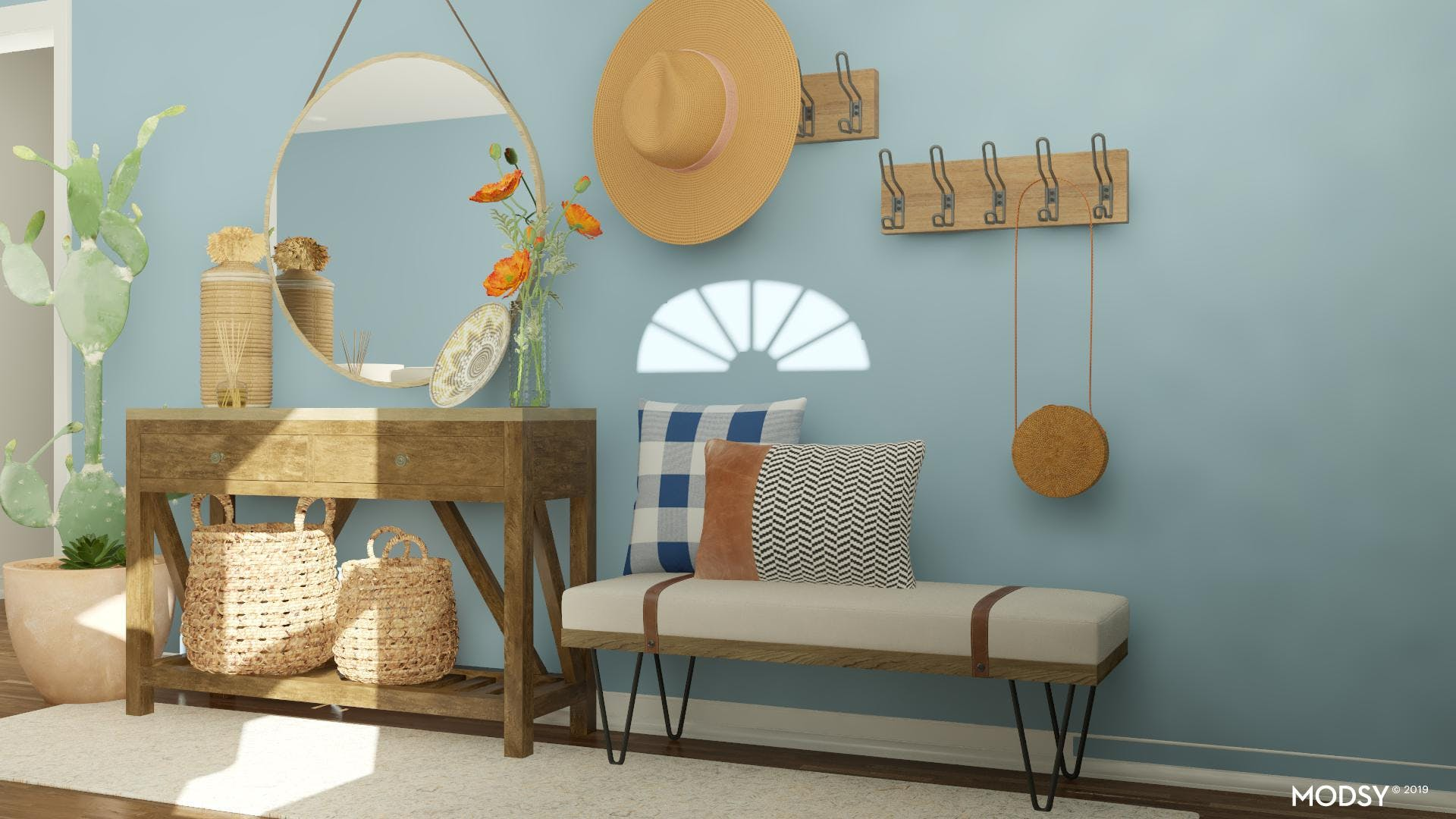 A Bright, Rustic Welcome