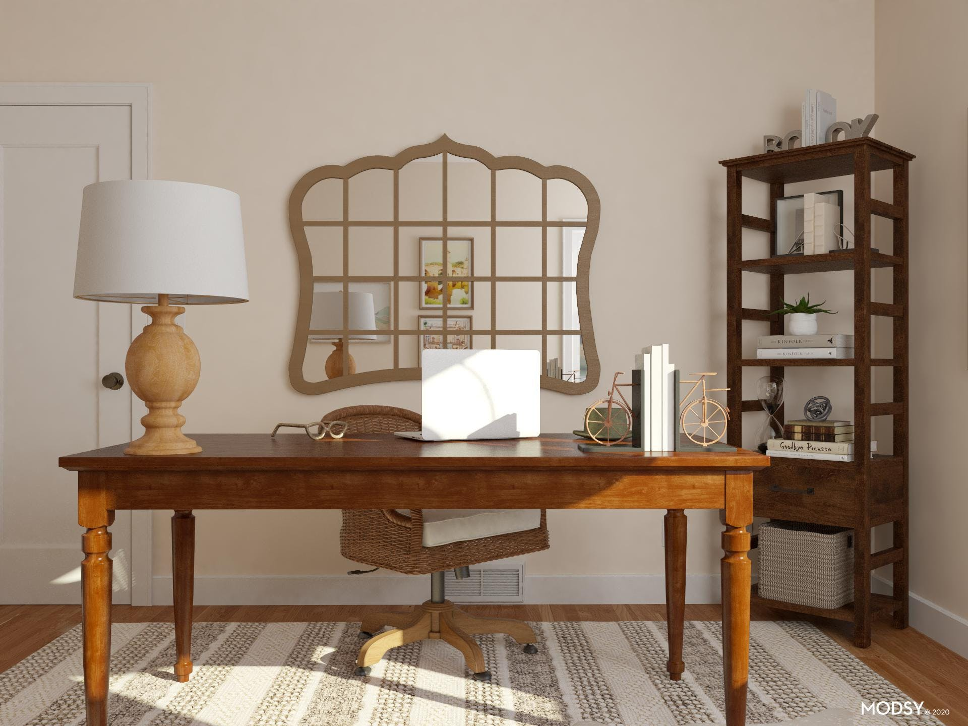 Neutral Office: Rustic Style