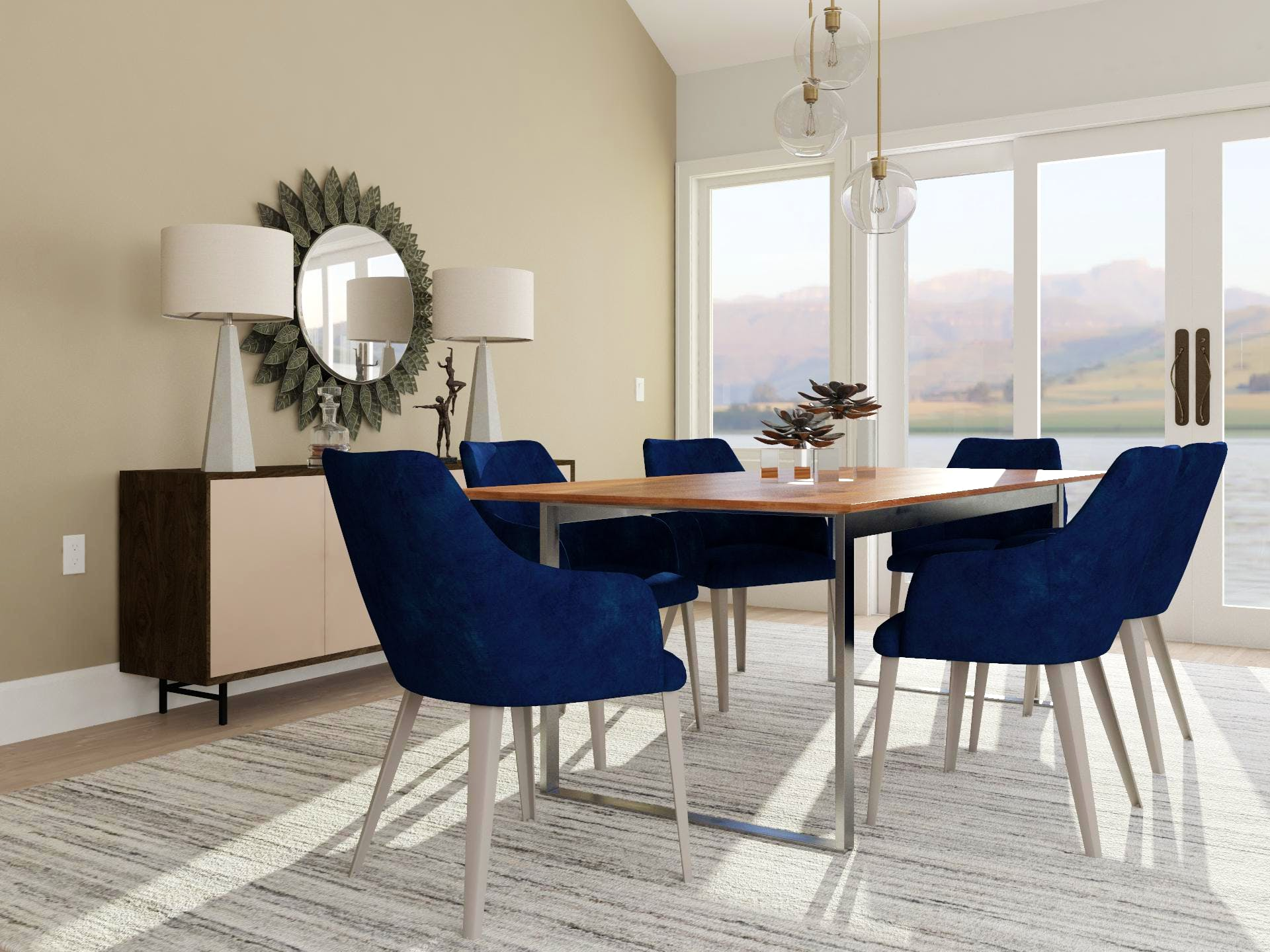Ray of Sunshine Contemporary Dining Room