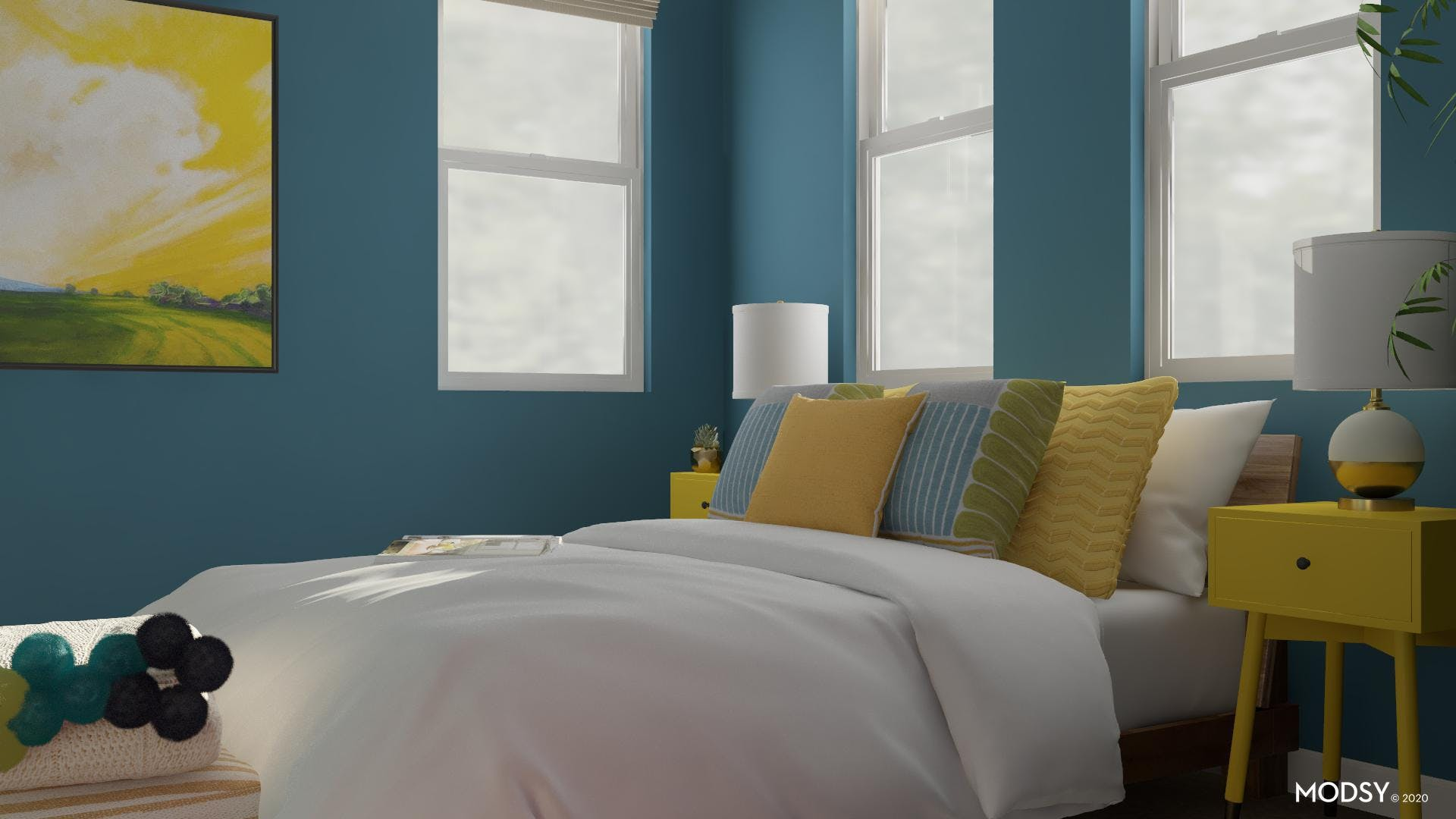 Cheery & Bright: Multicolor Bedroom