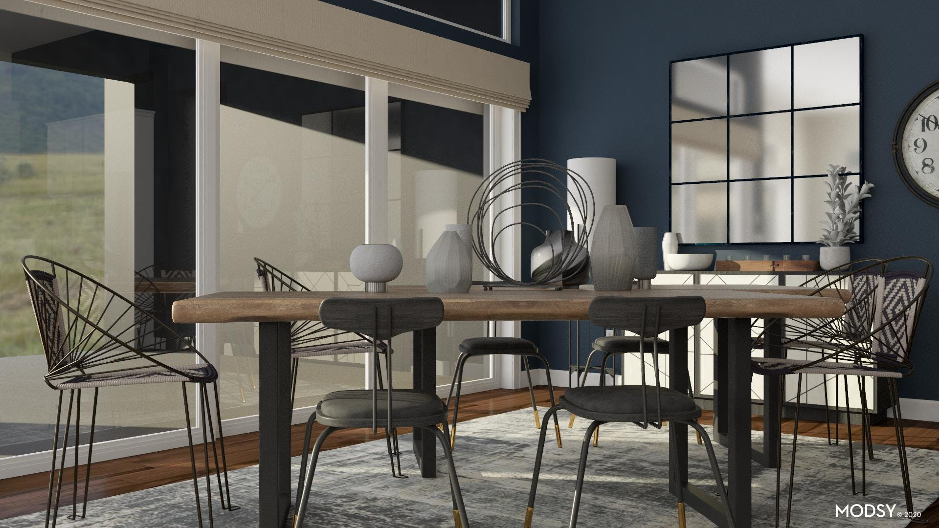 More Seating: Industrial Dining Room