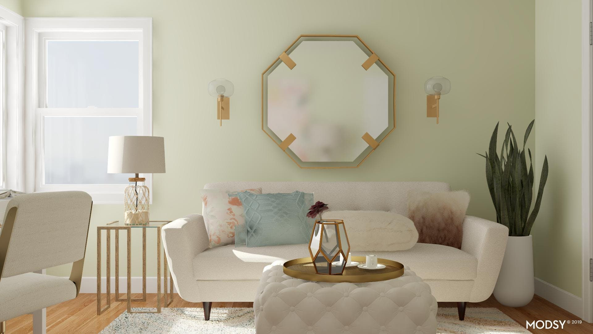 Small Glam Seating Area