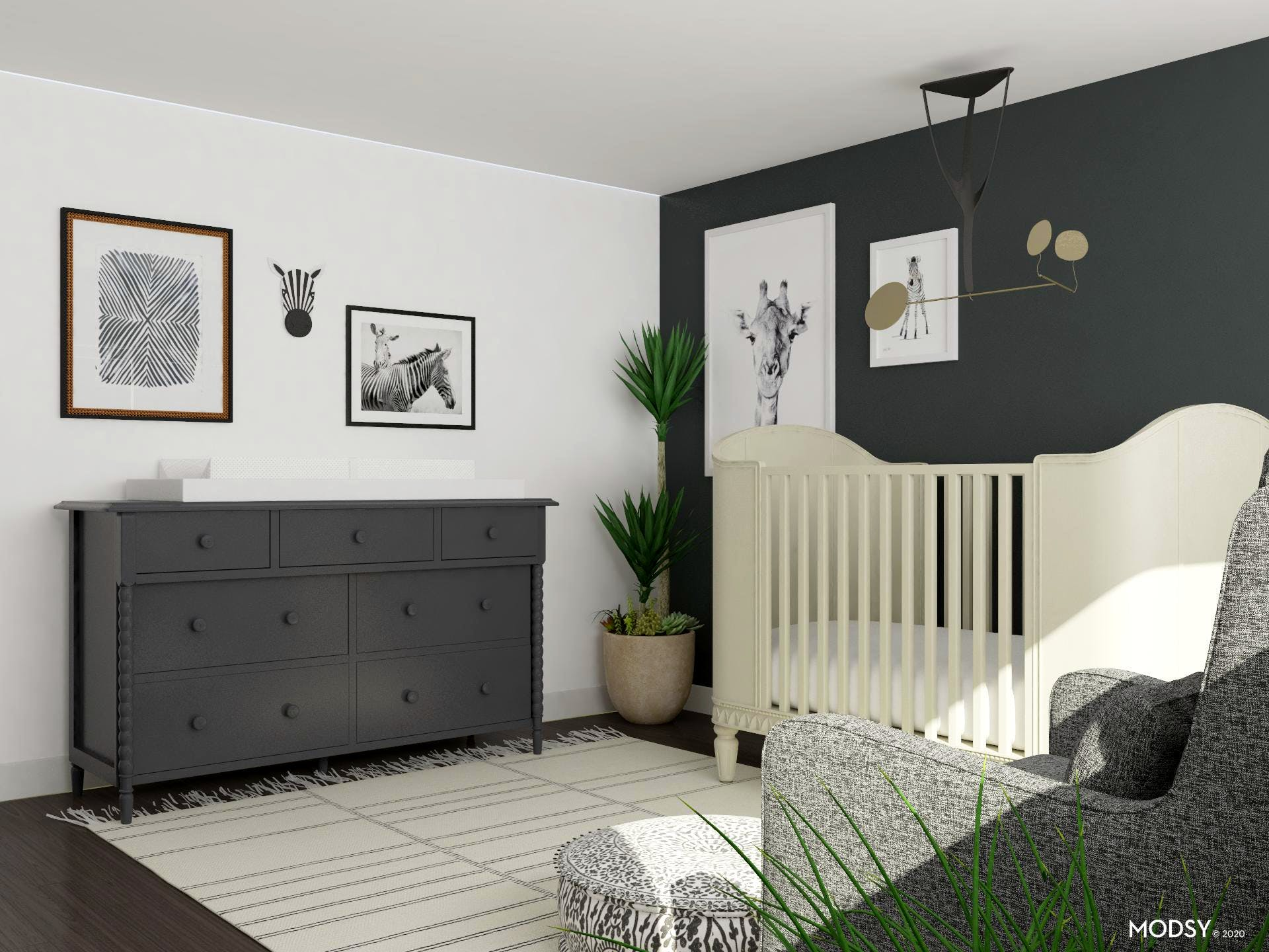 Storage and Functionality in Mid-century Nursery