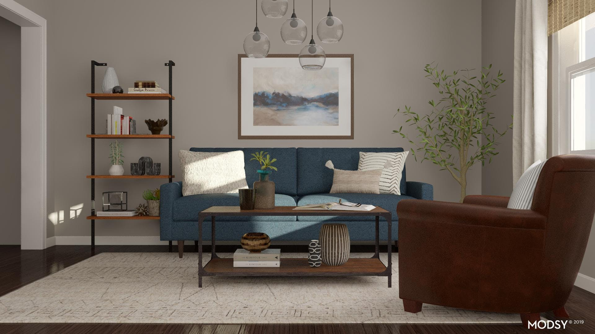 Modern Living Room With A Classic Touch