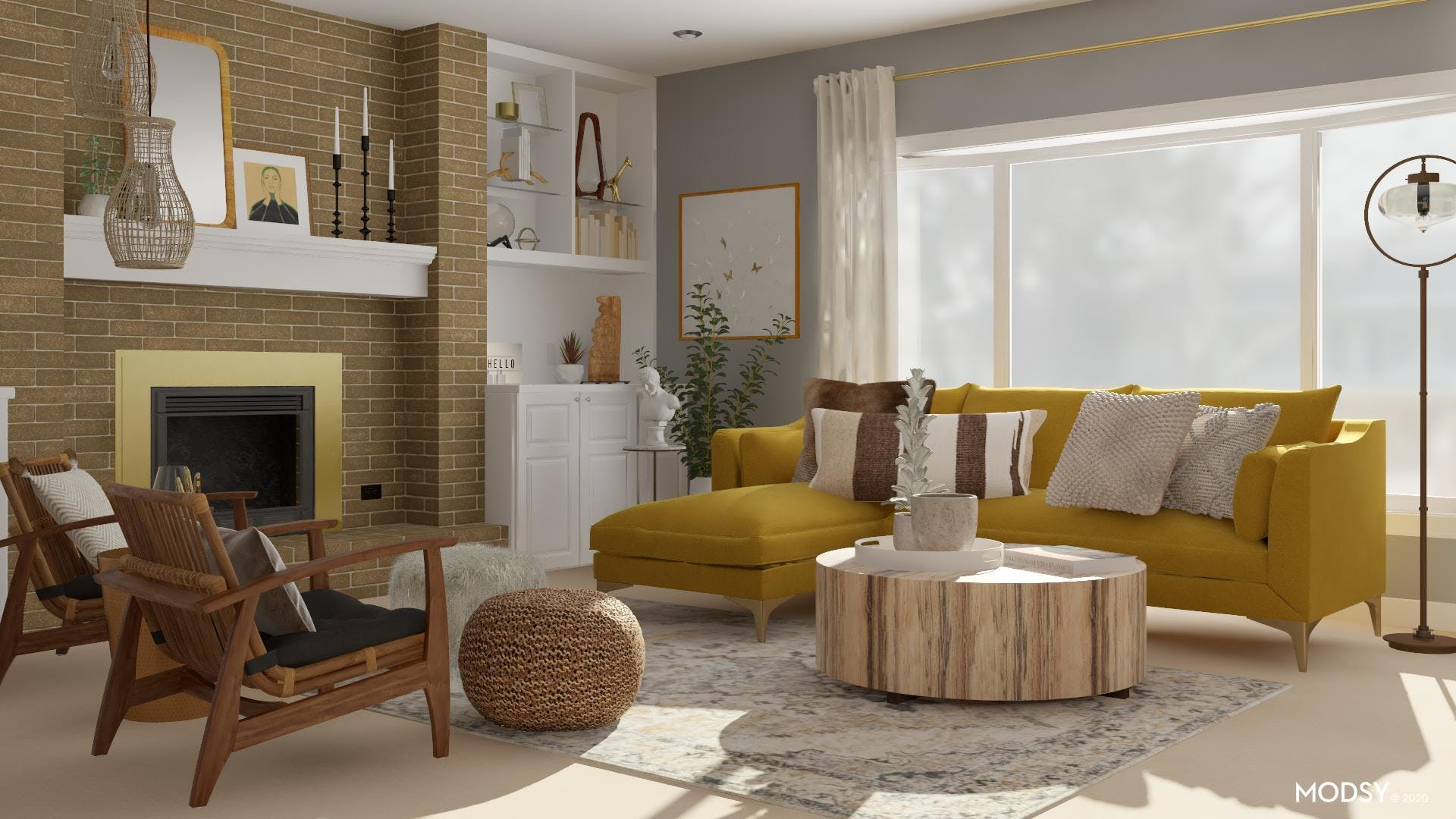 Funky and Eclectic Living Room