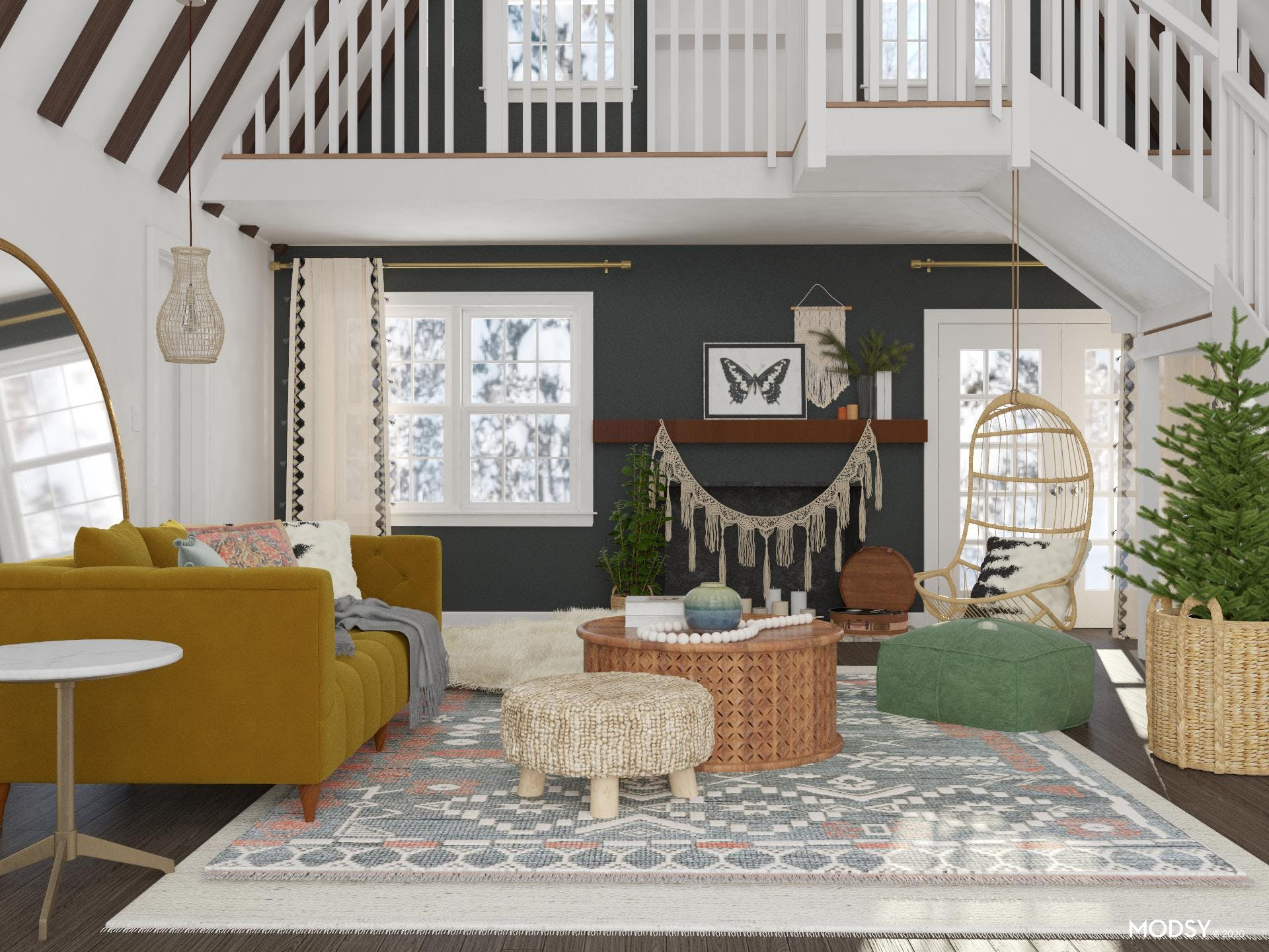 Boho Home Tour: Living Room