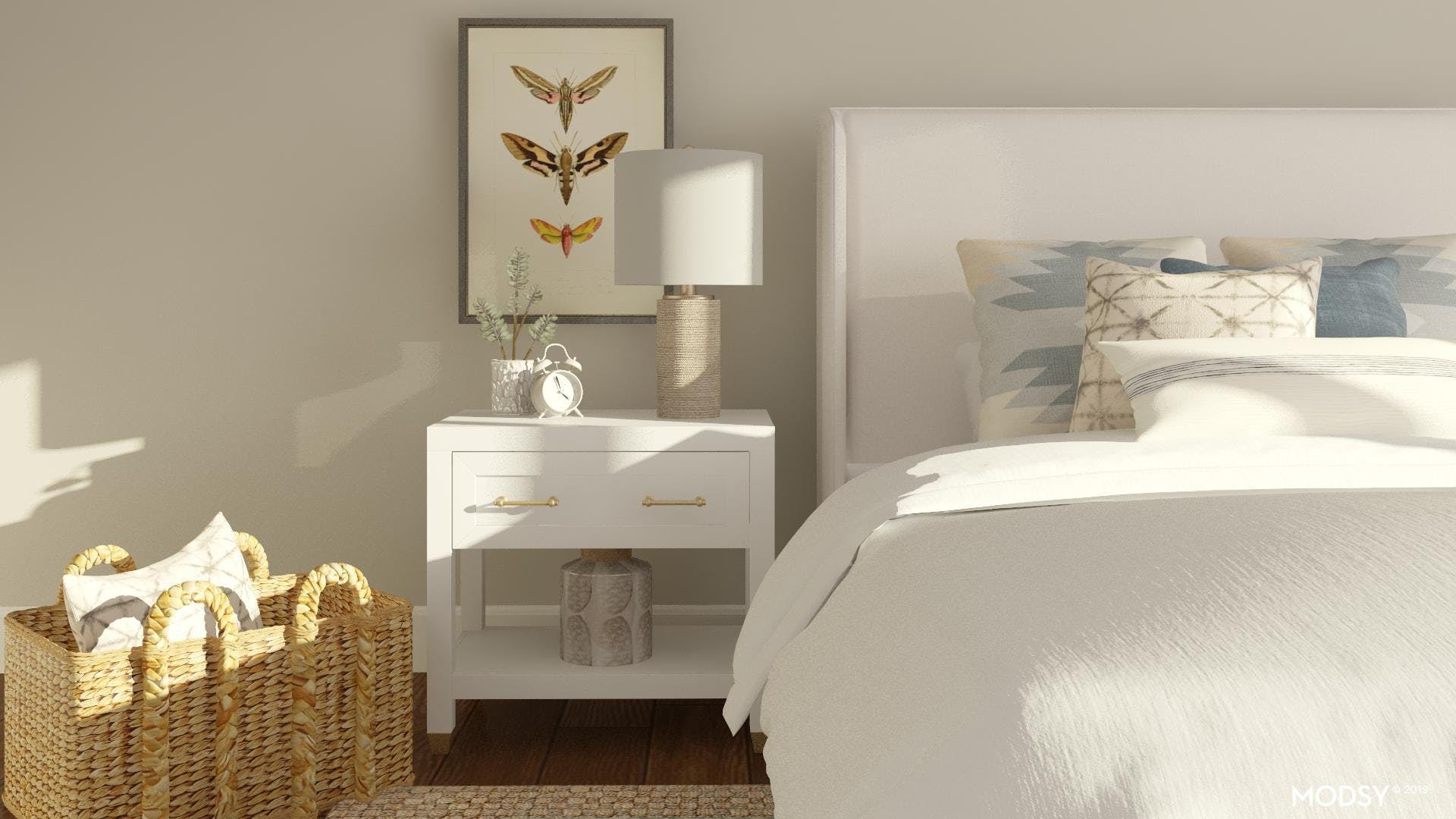 Contemporary Nightstand Styling
