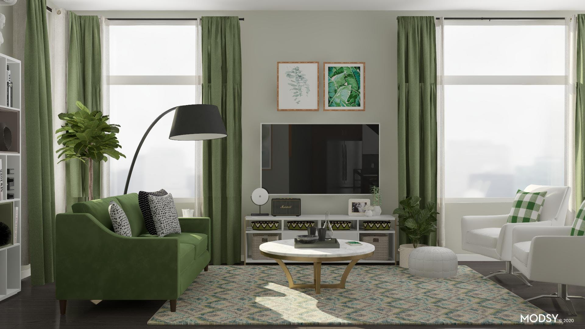 Tranquility in a Modern Living Room Space
