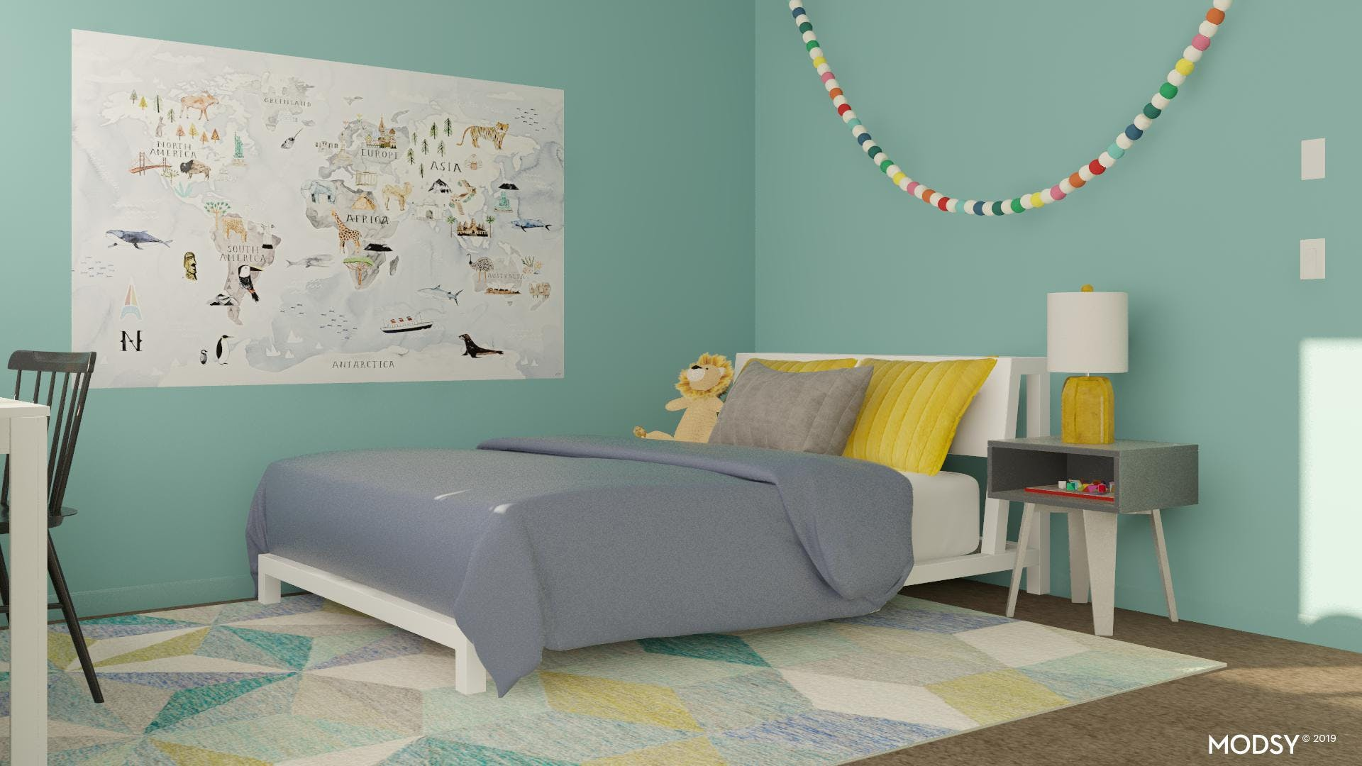 A Bright, Cheerful Kids Bedroom