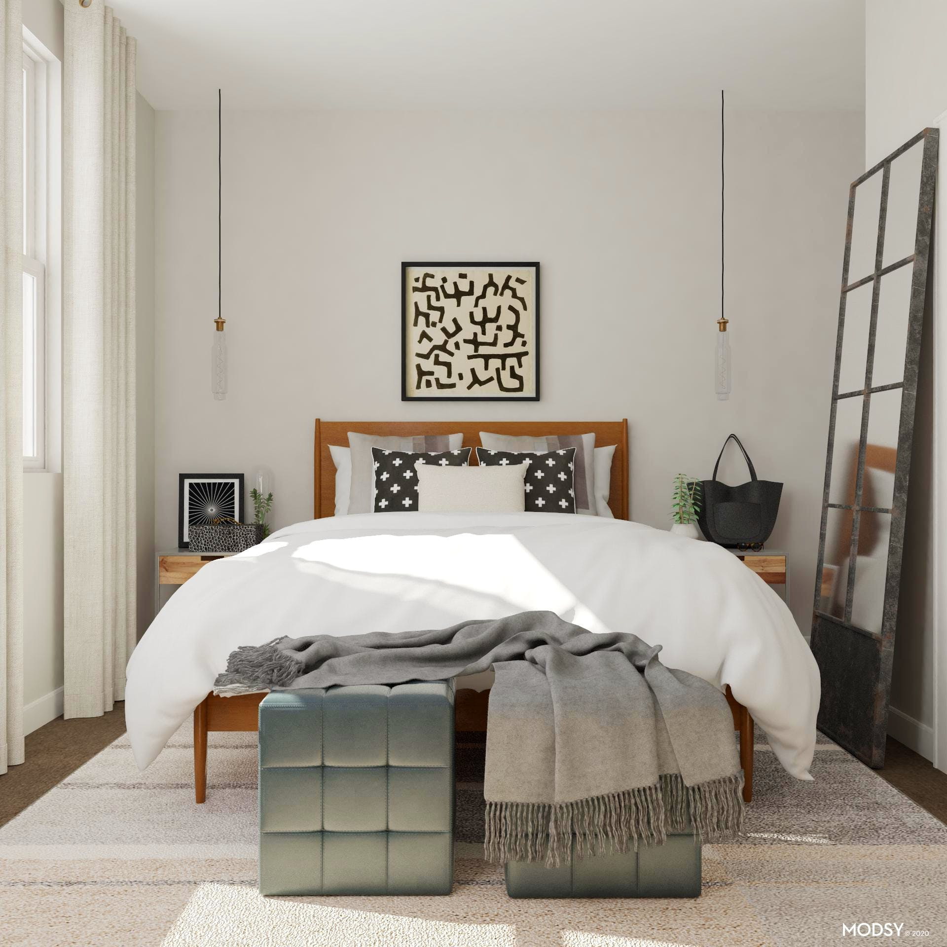 A Classic Industrial Bedroom
