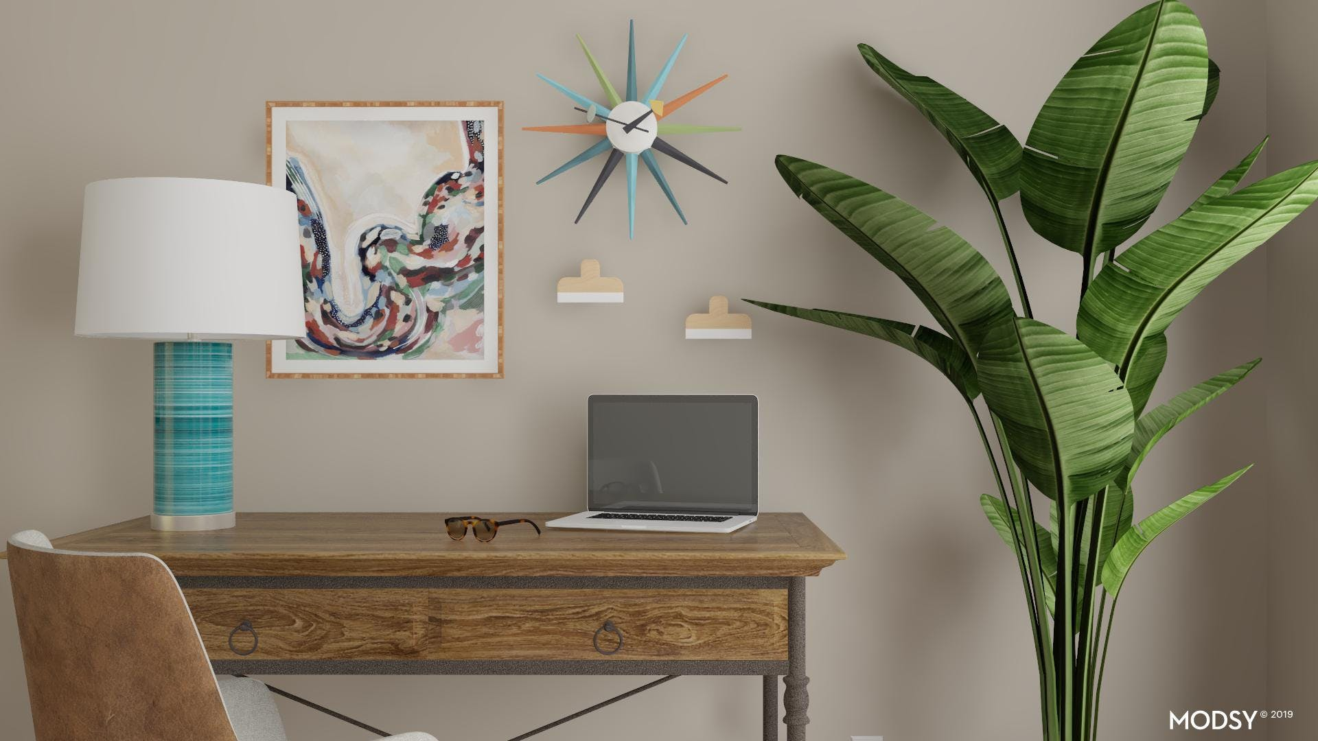 Mid-Century Rustic: Home Office