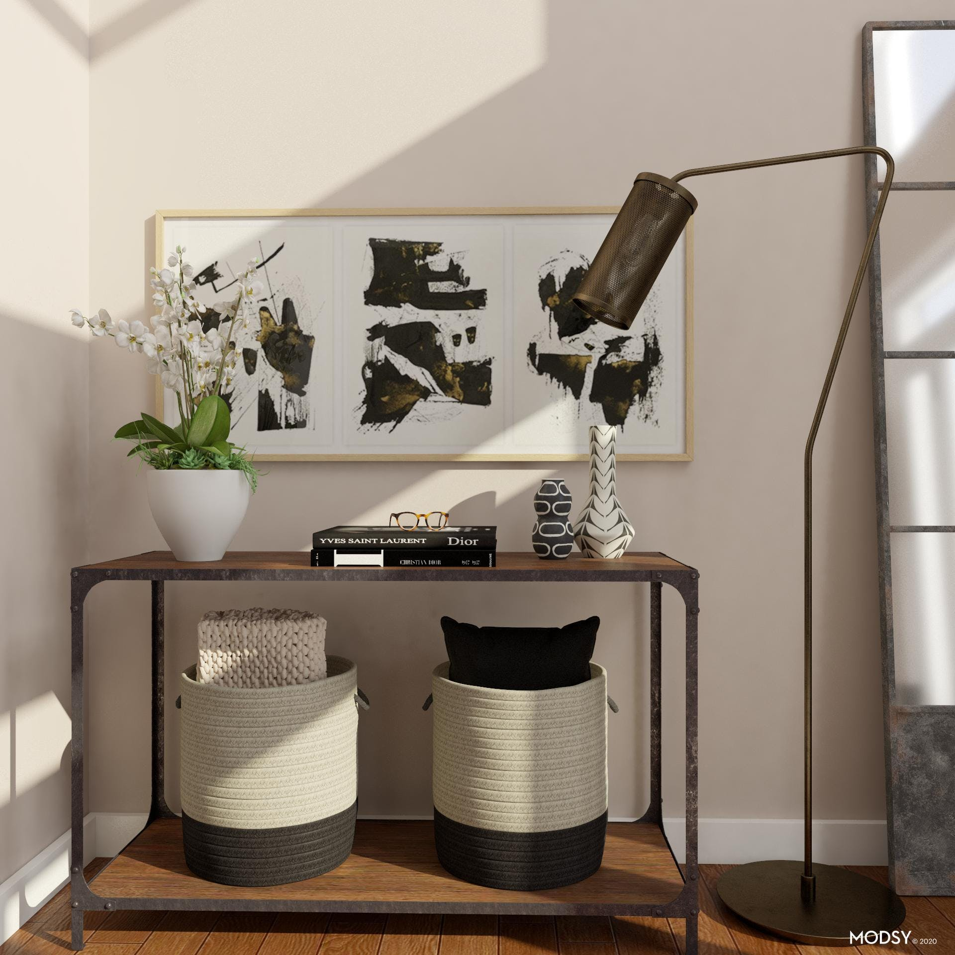 Storage Solutions for an Industrial Style Entryway