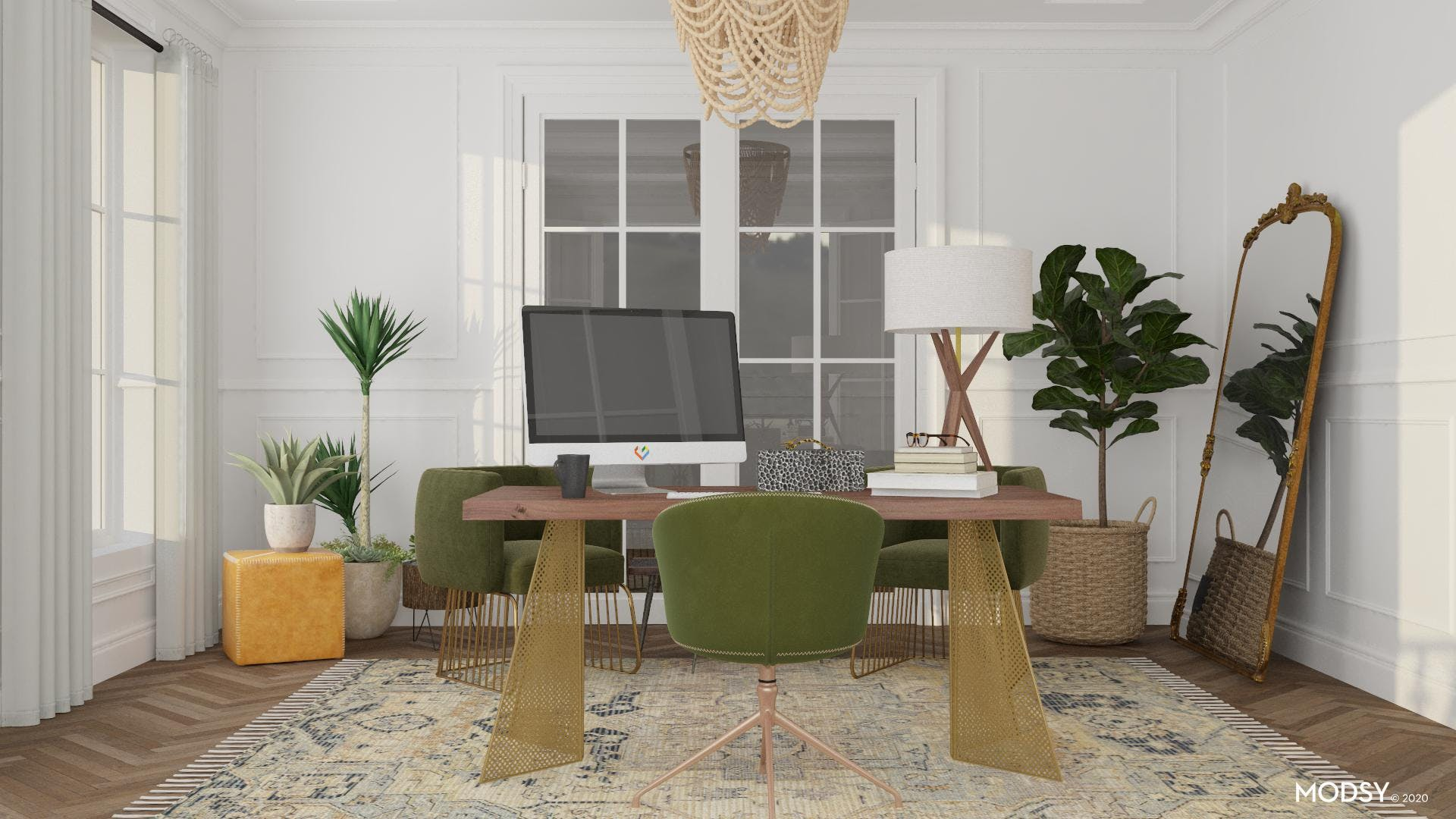 In the Details: Eclectic Home Office