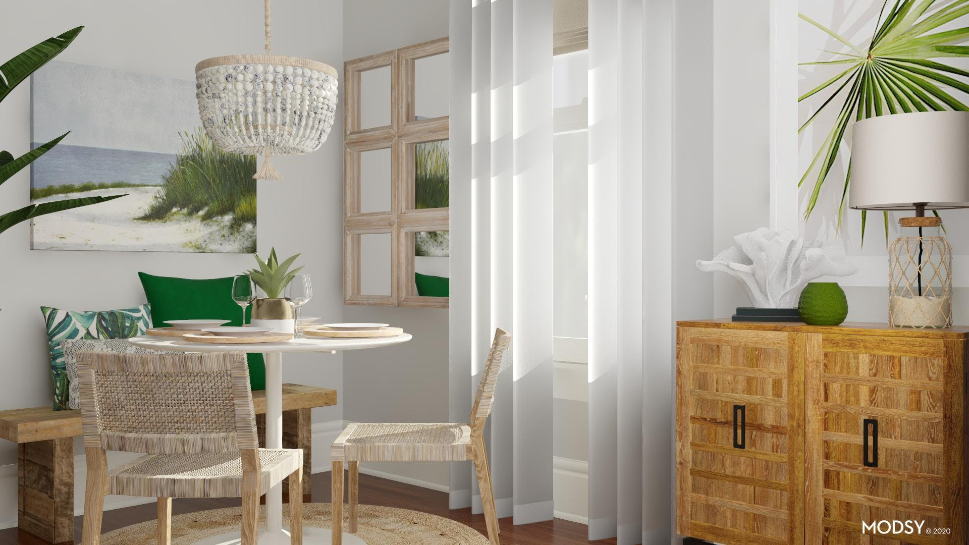 Small Dining Nook With Coastal Appeal