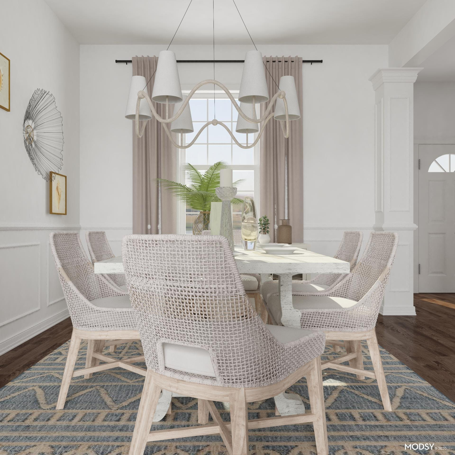 Coastal And Calming Dining Room
