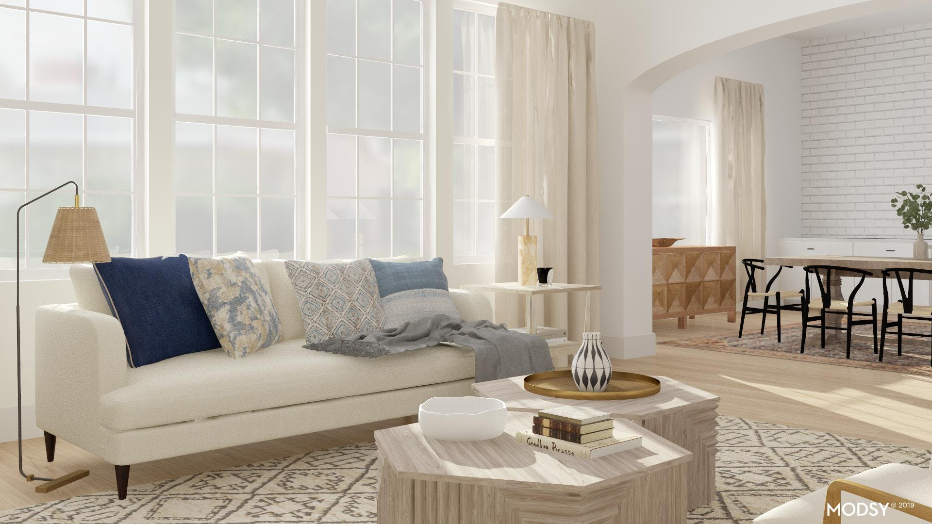 Light and Airy Open Living Room