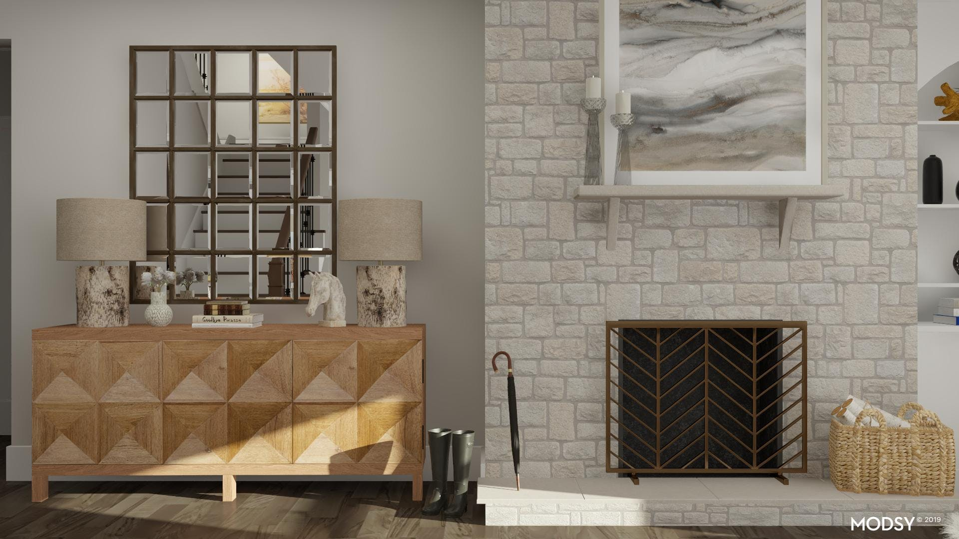 The Modern Rustic Effect