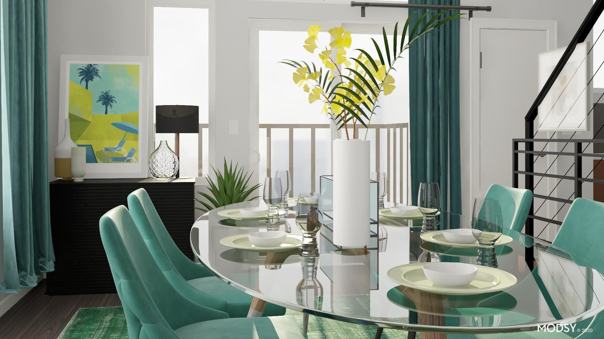 Green and Gorgeous Minimal Dining Room
