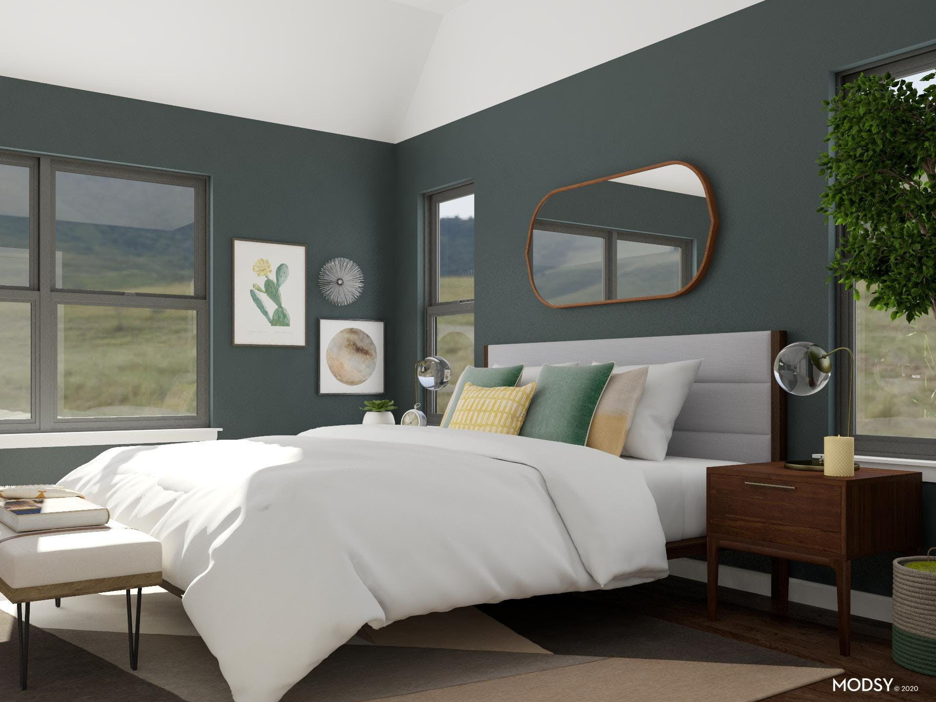 Industrial Earth Tone Bedroom