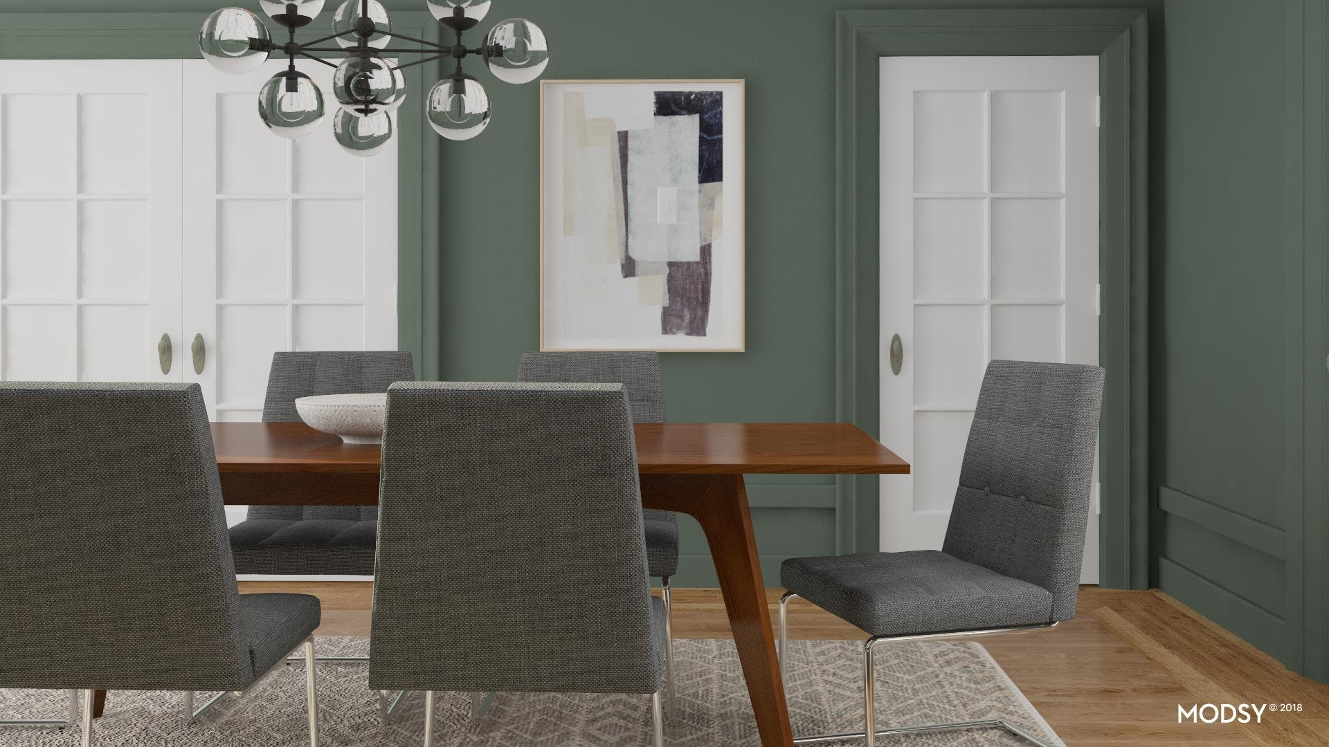Perfect Colors For A Contemporary Dining Room