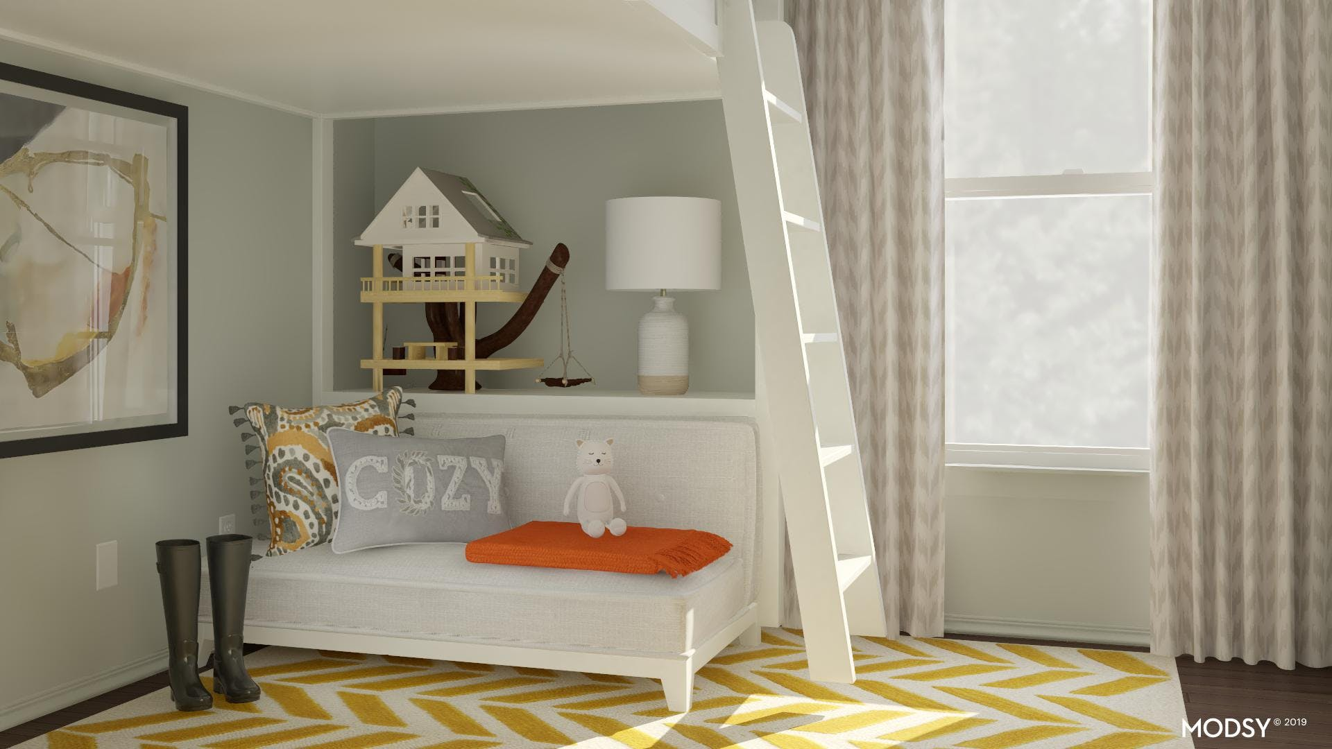 Clutter-Free Rustic And Earthy Kids Room