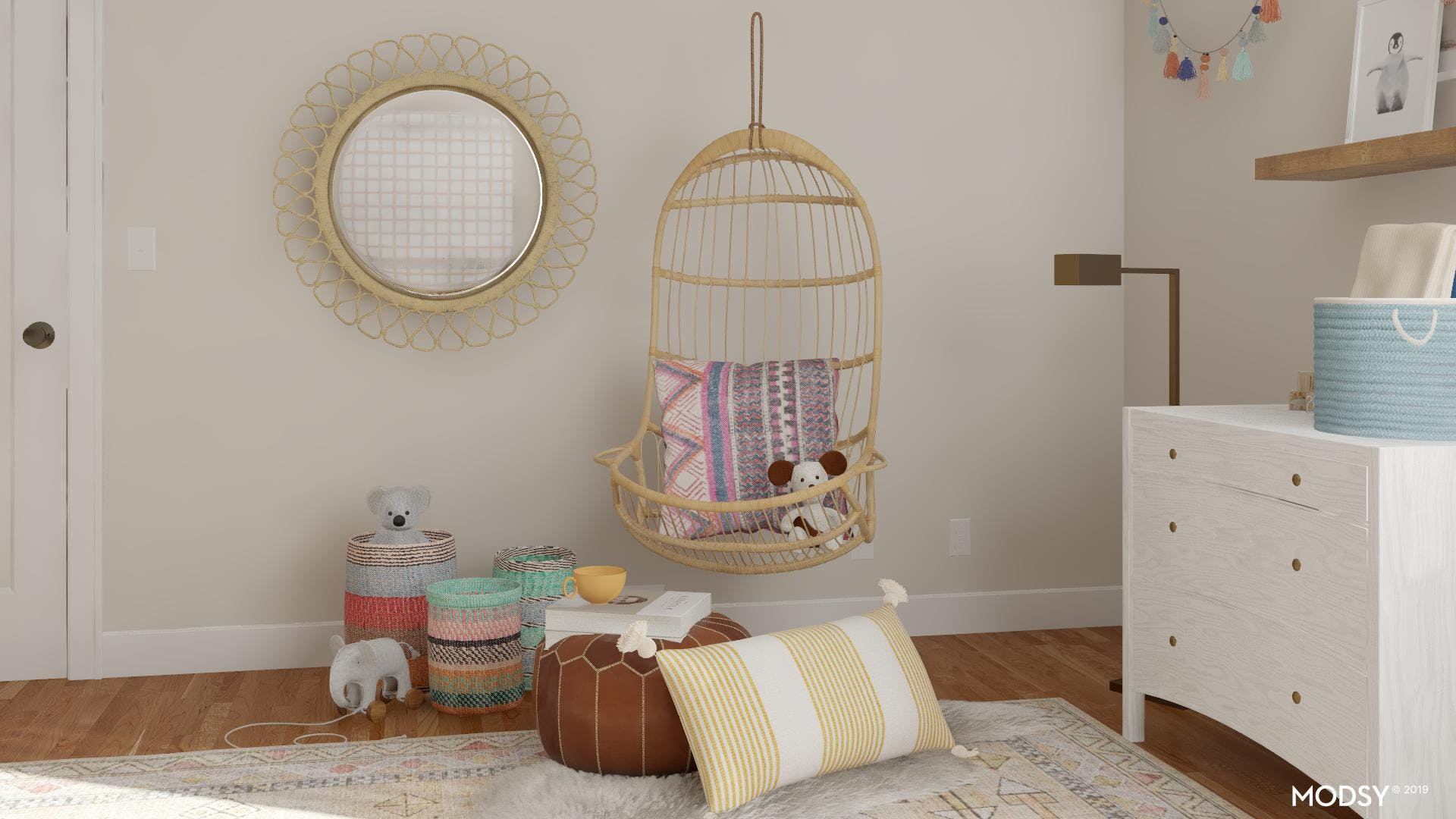 An Eclectic And Pastel Nursery