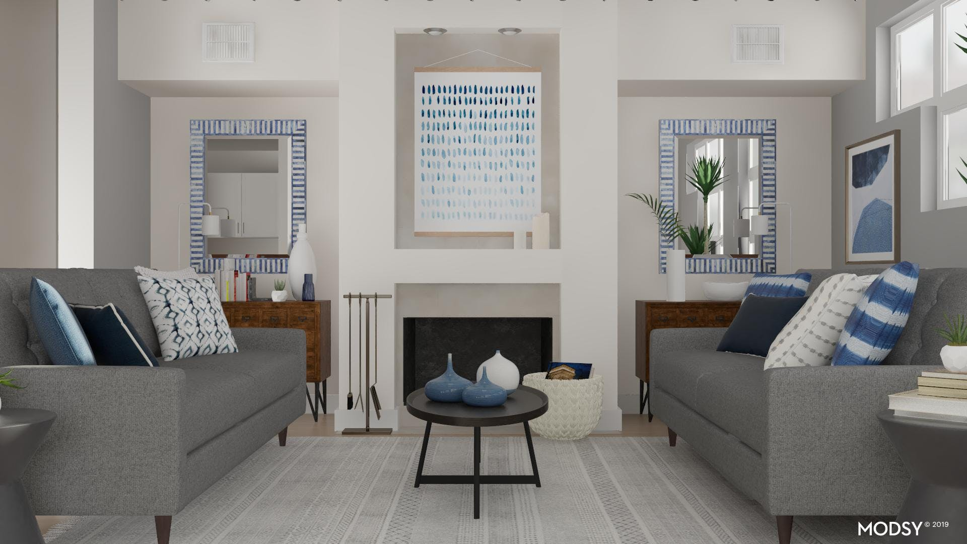 Tranquilly Mod Living Room