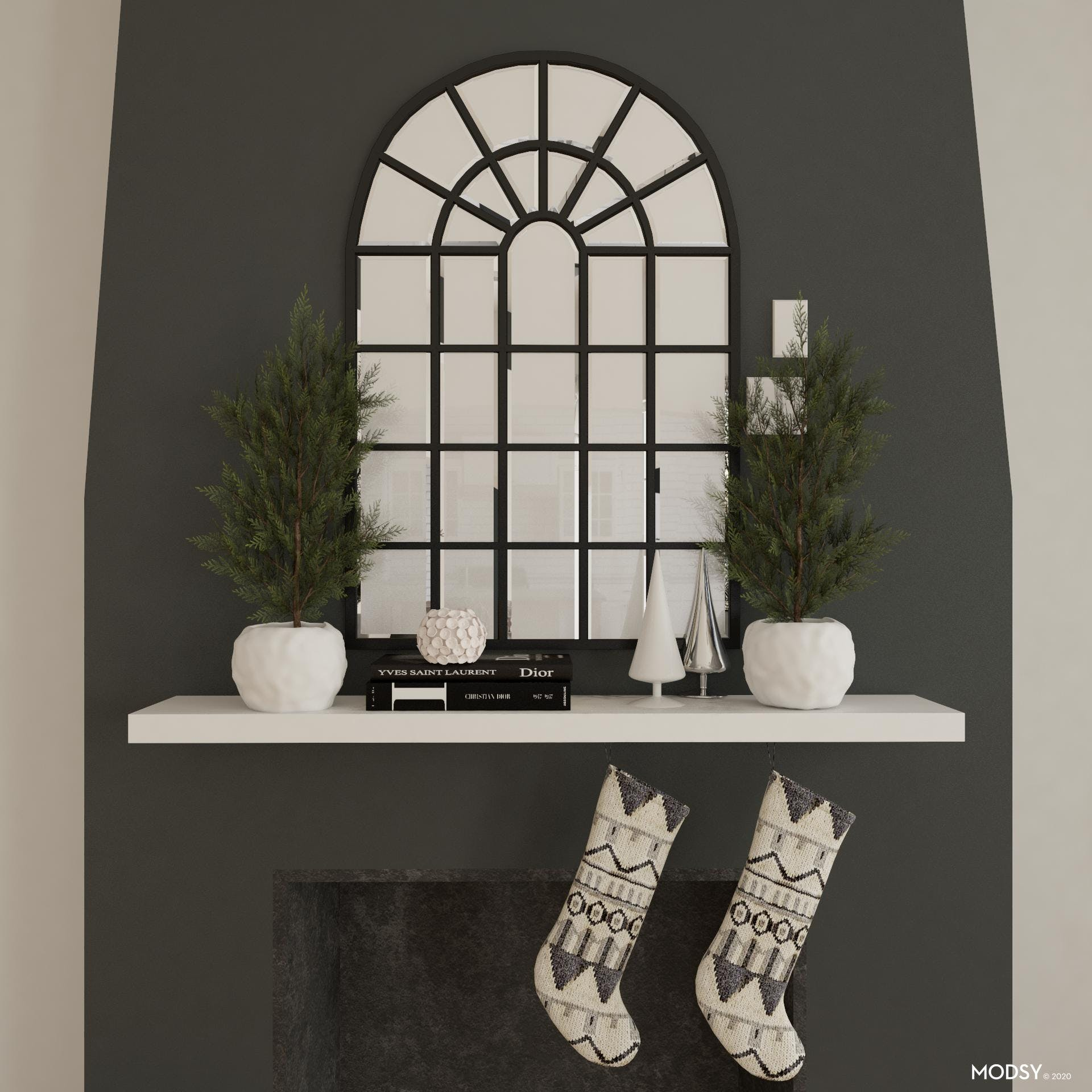 Industrial Holiday Mantel