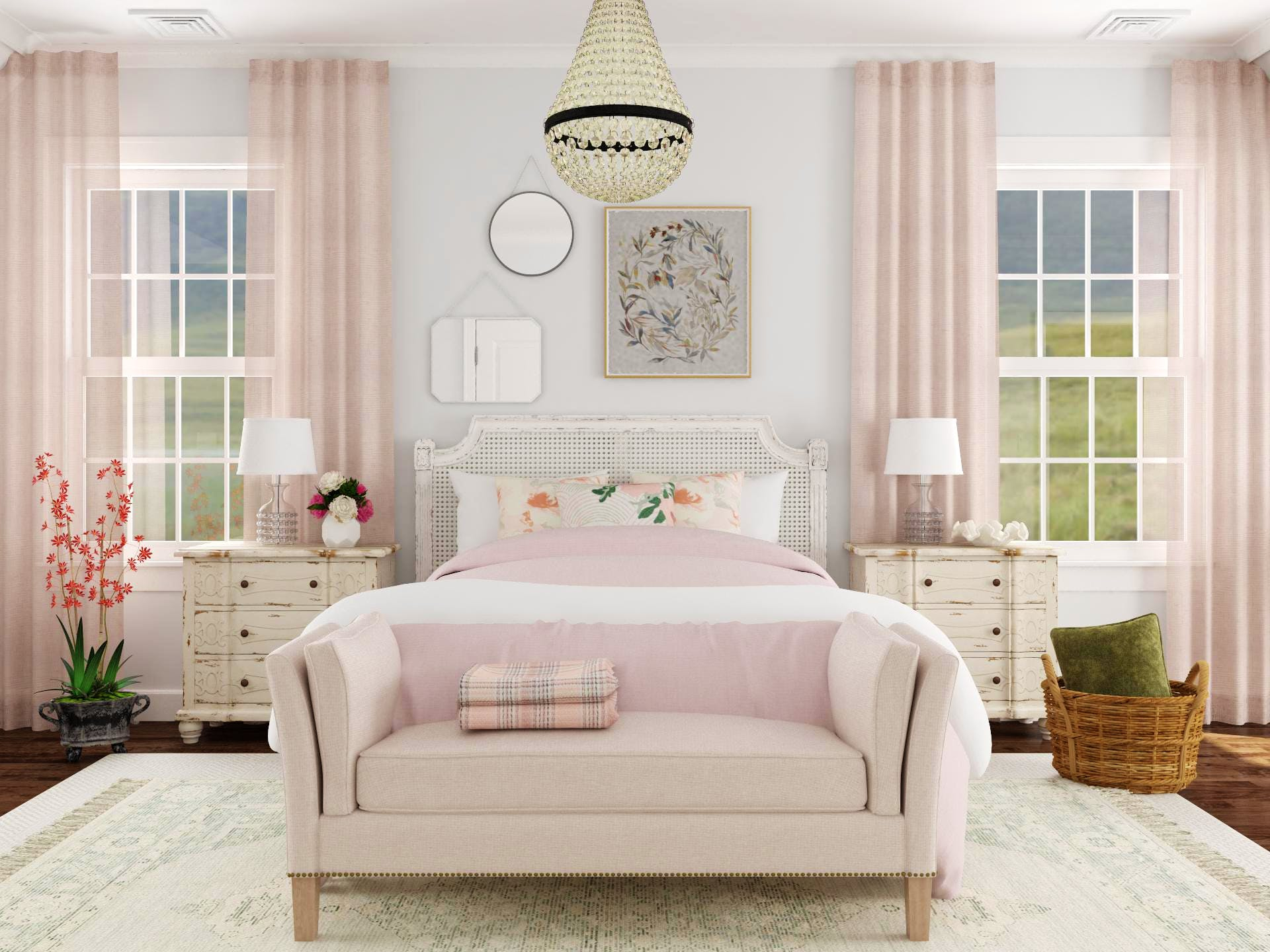 Rustic Pink Bedroom