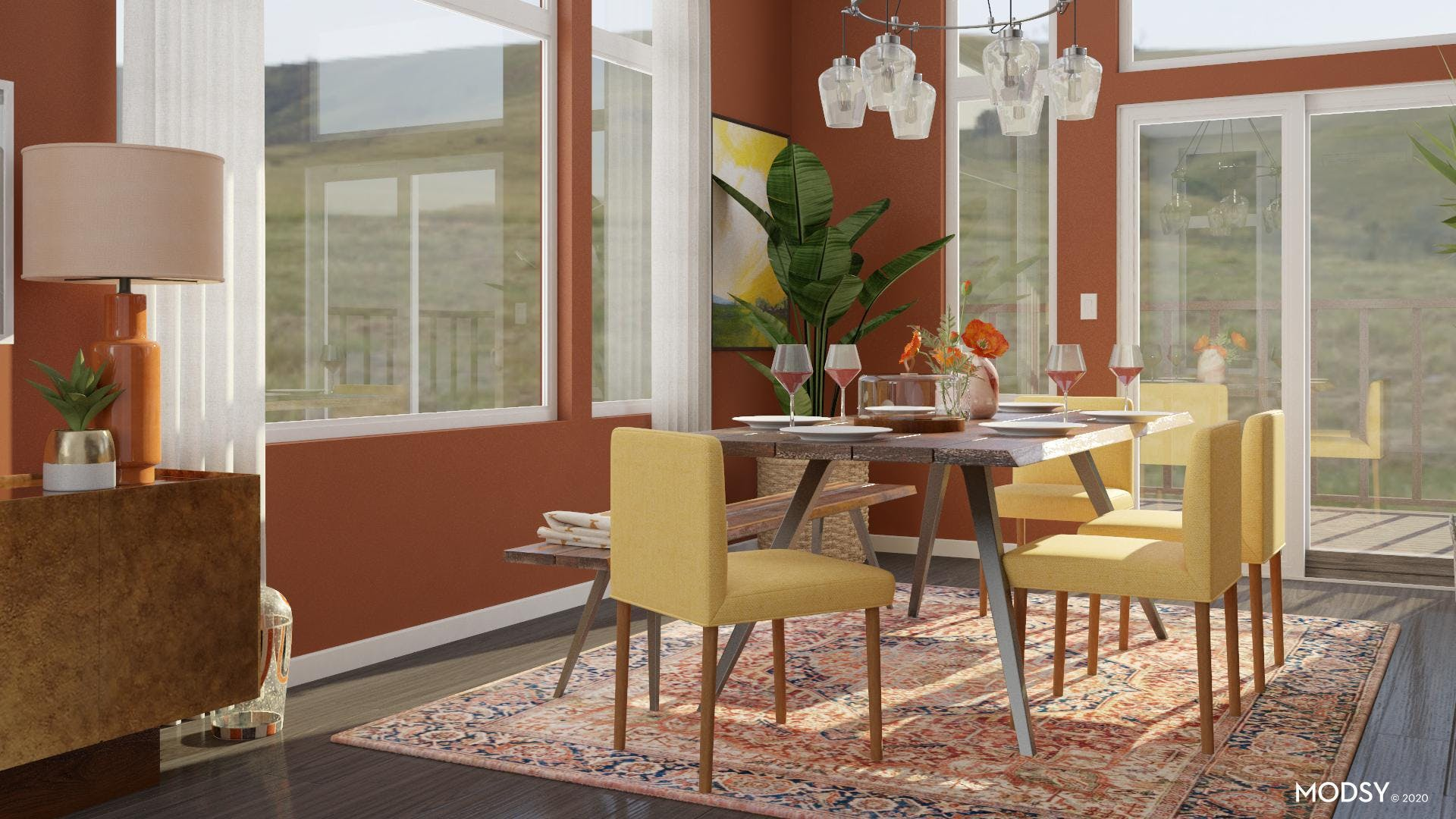 Bright Multicolor: Eclectic Dining