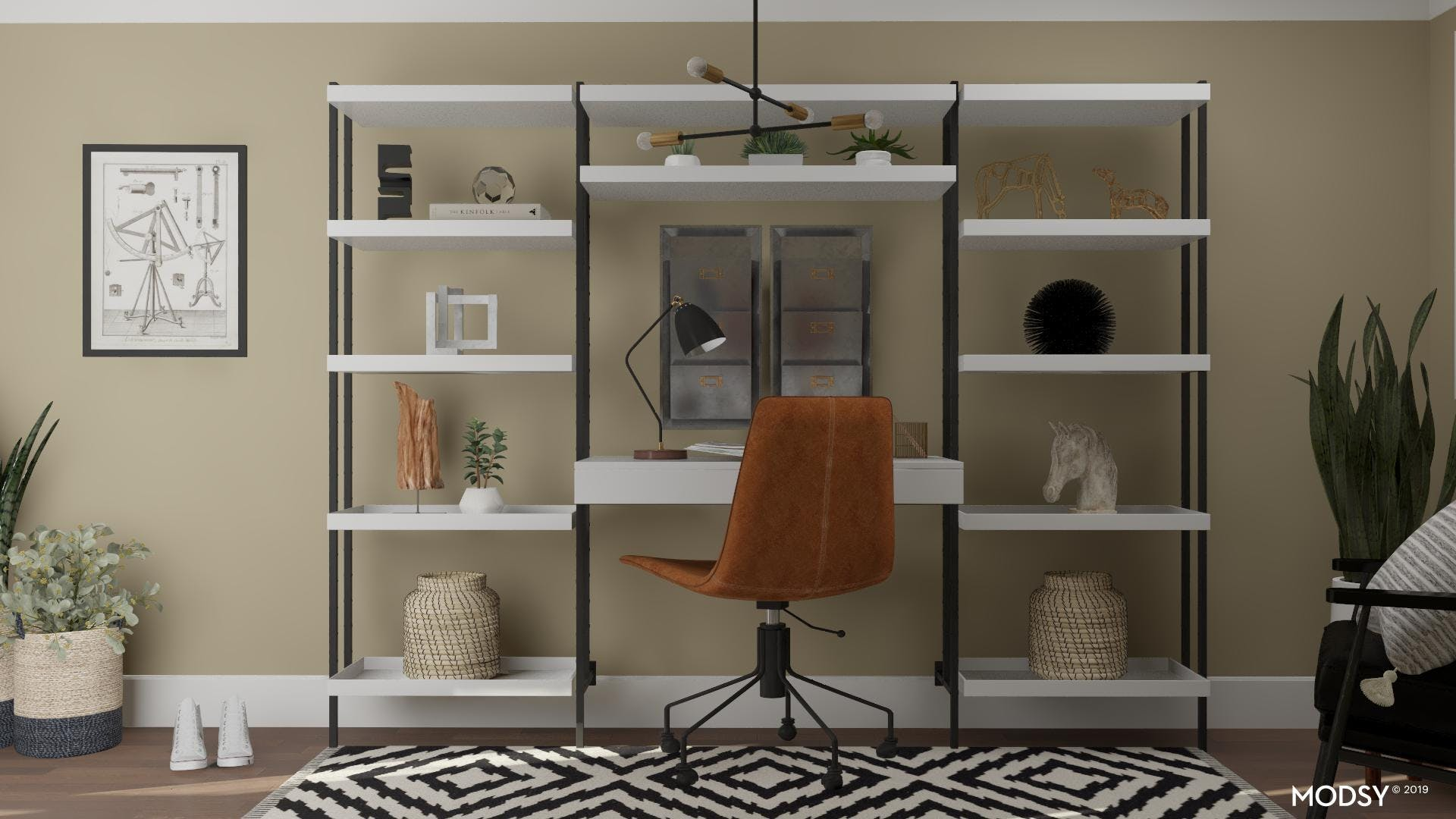 Black, White And Eclectic Office