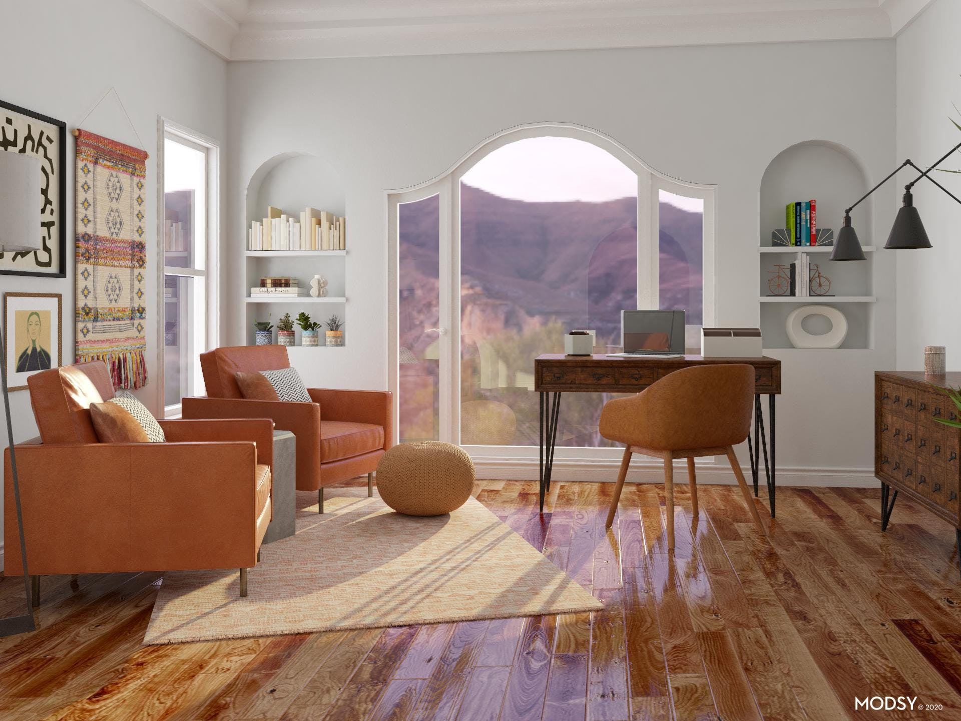 Eclectic Office: Southwestern Inspirations