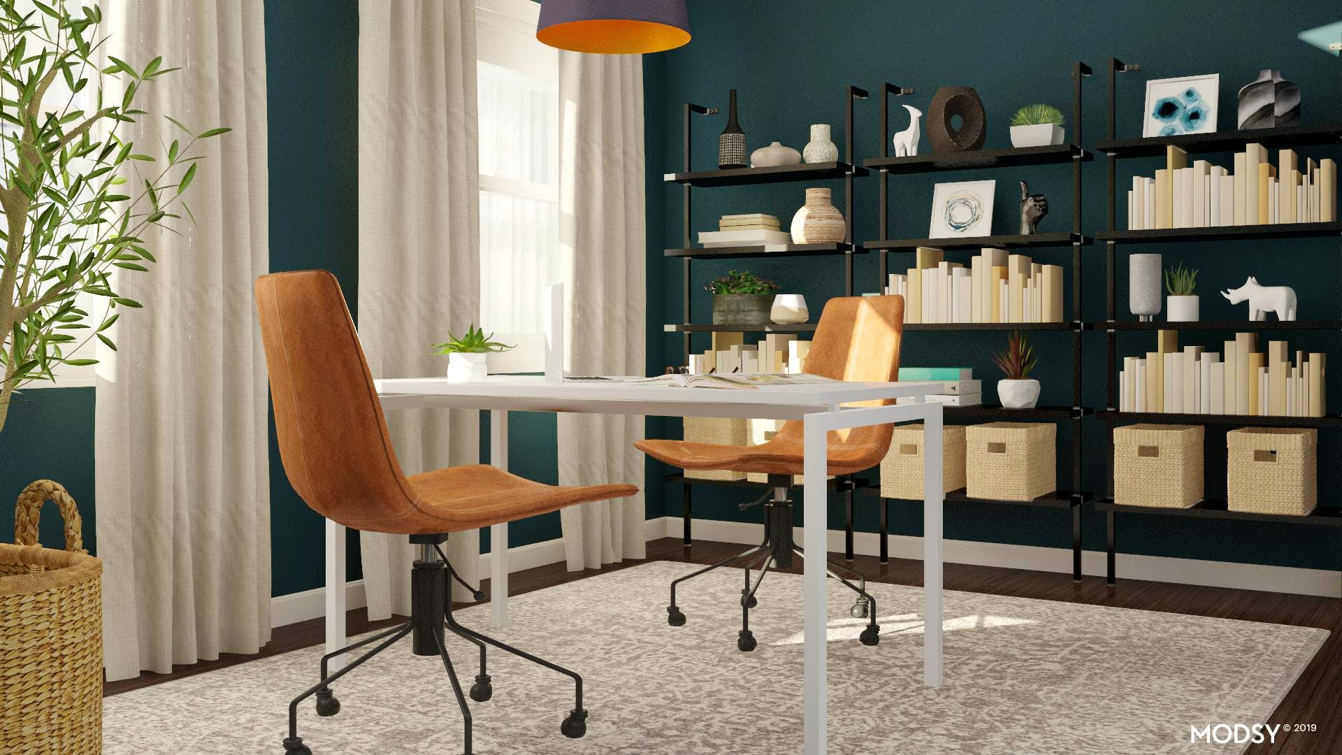 Modern Home Office Design For Two