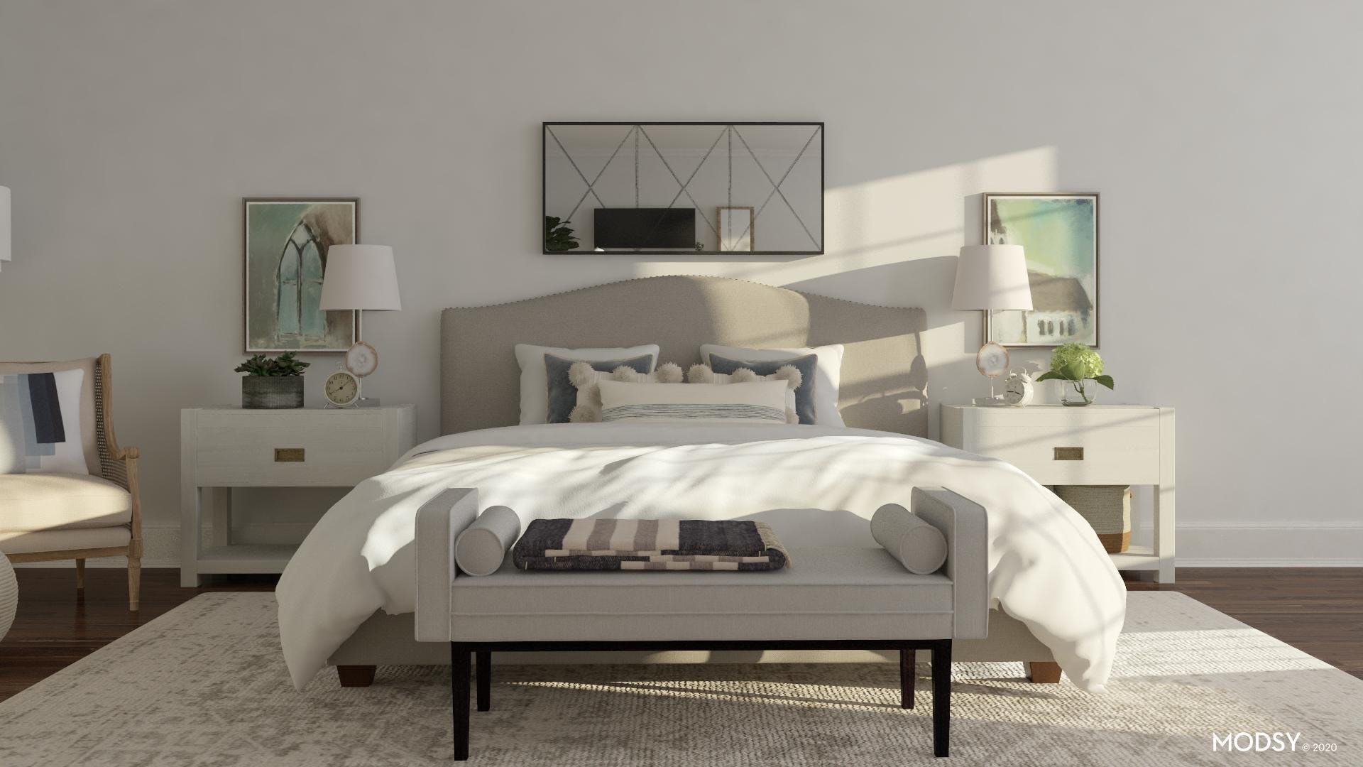 Traditional Comfort In Neutral