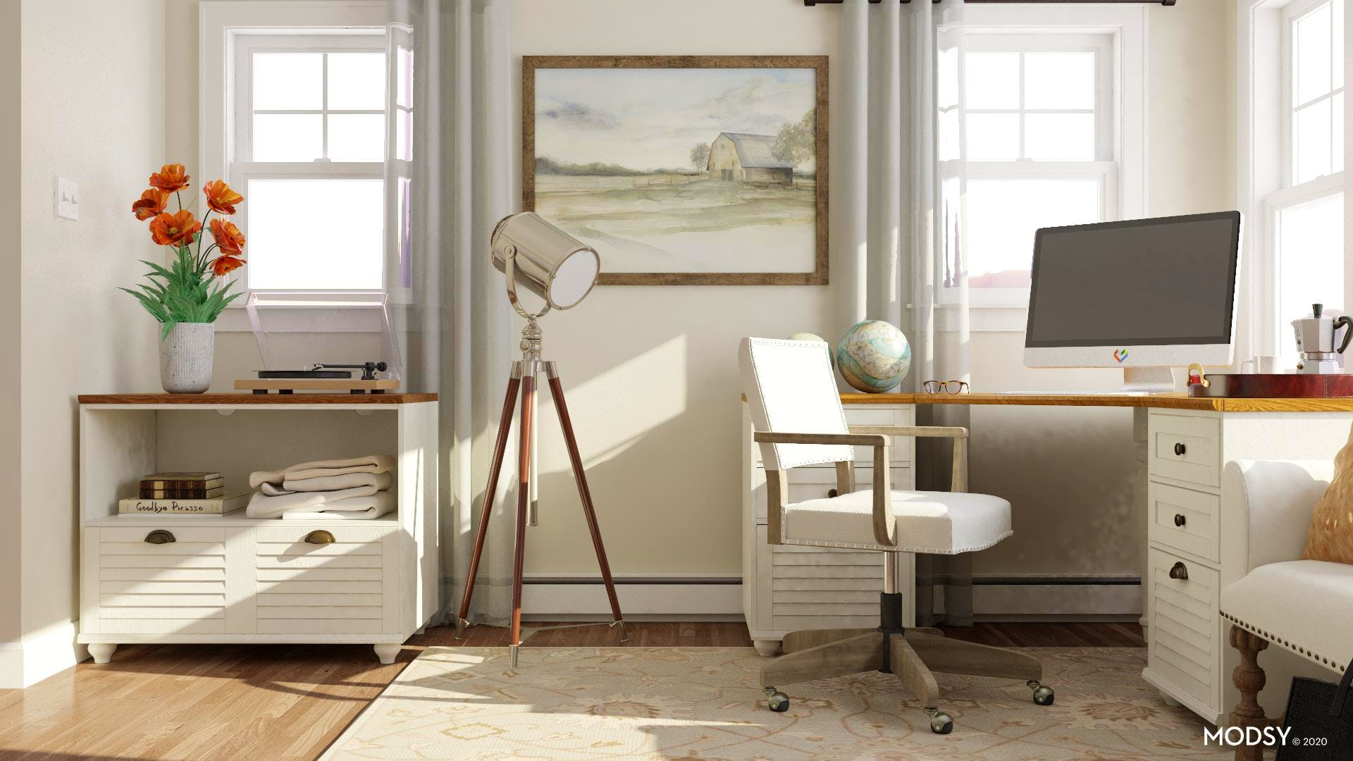 Neutral Traditional Office Design
