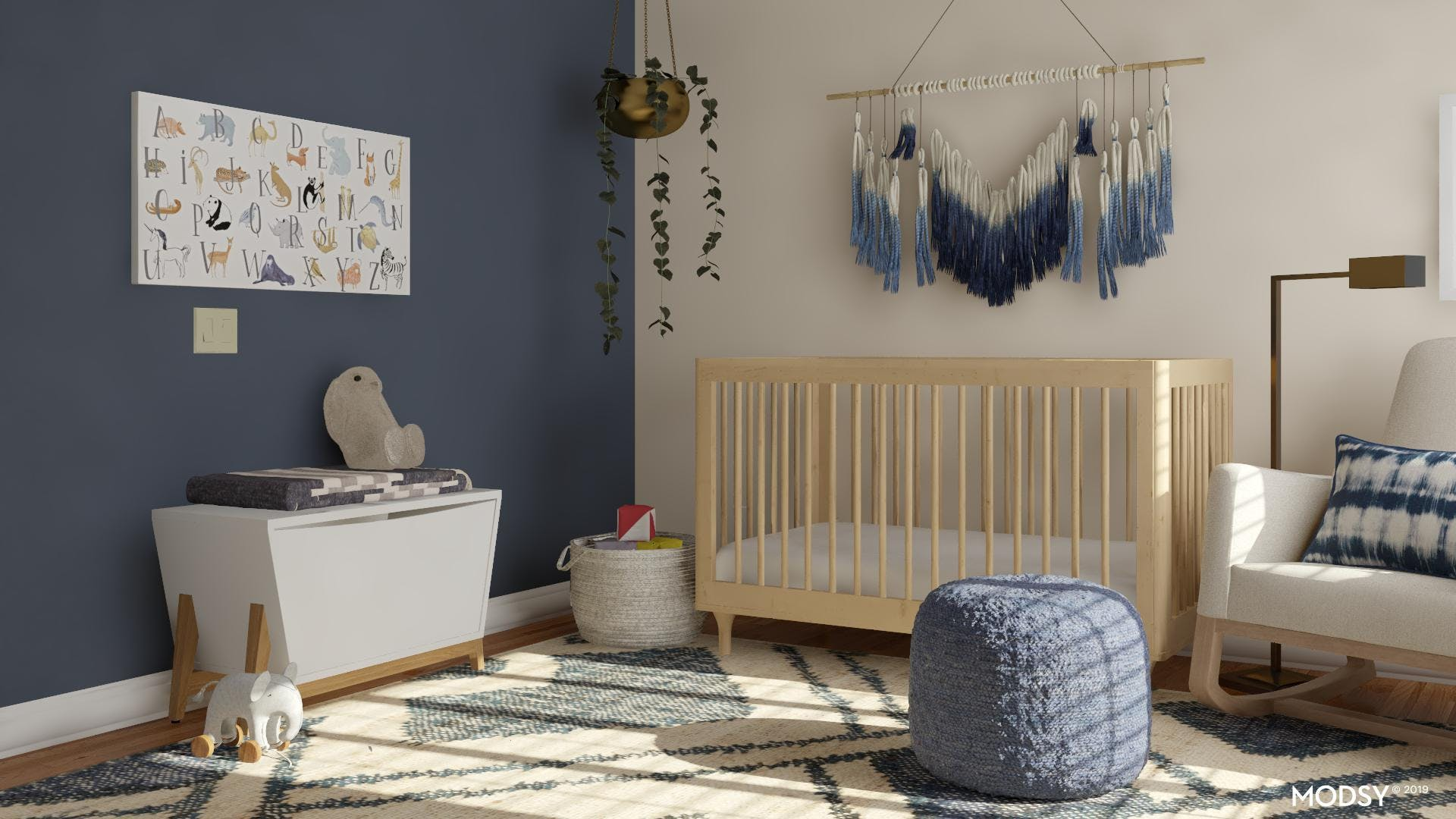 A Mid-Century Nursery That Transitions