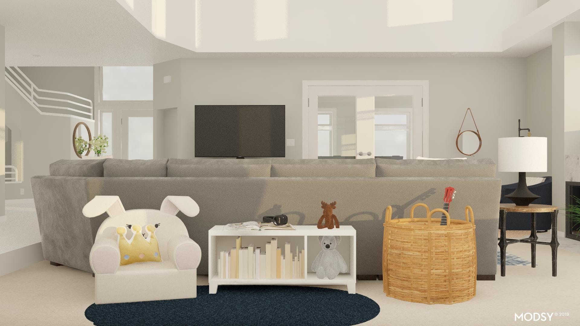 Combo Space: Play Space In Family Room