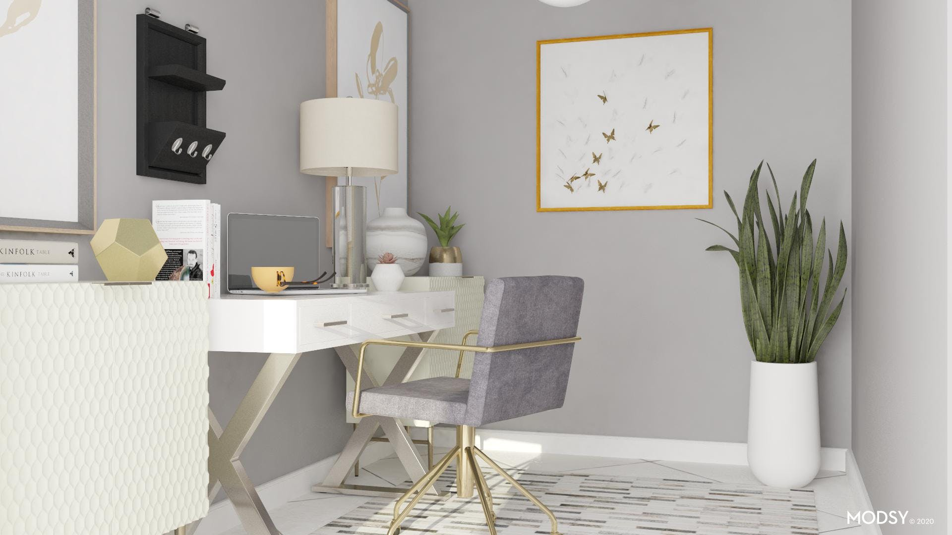 Chic Neutral Glam Office