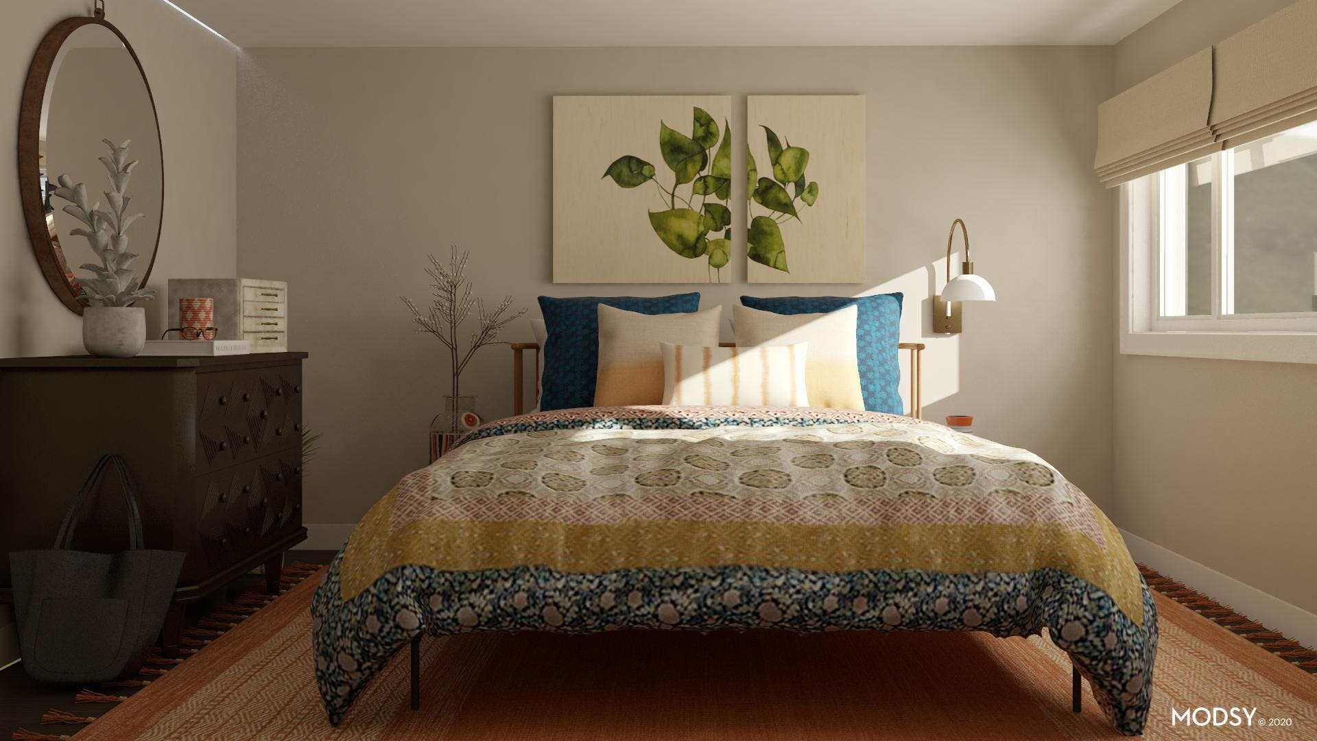 Earthy And Eclectic Bedroom Design