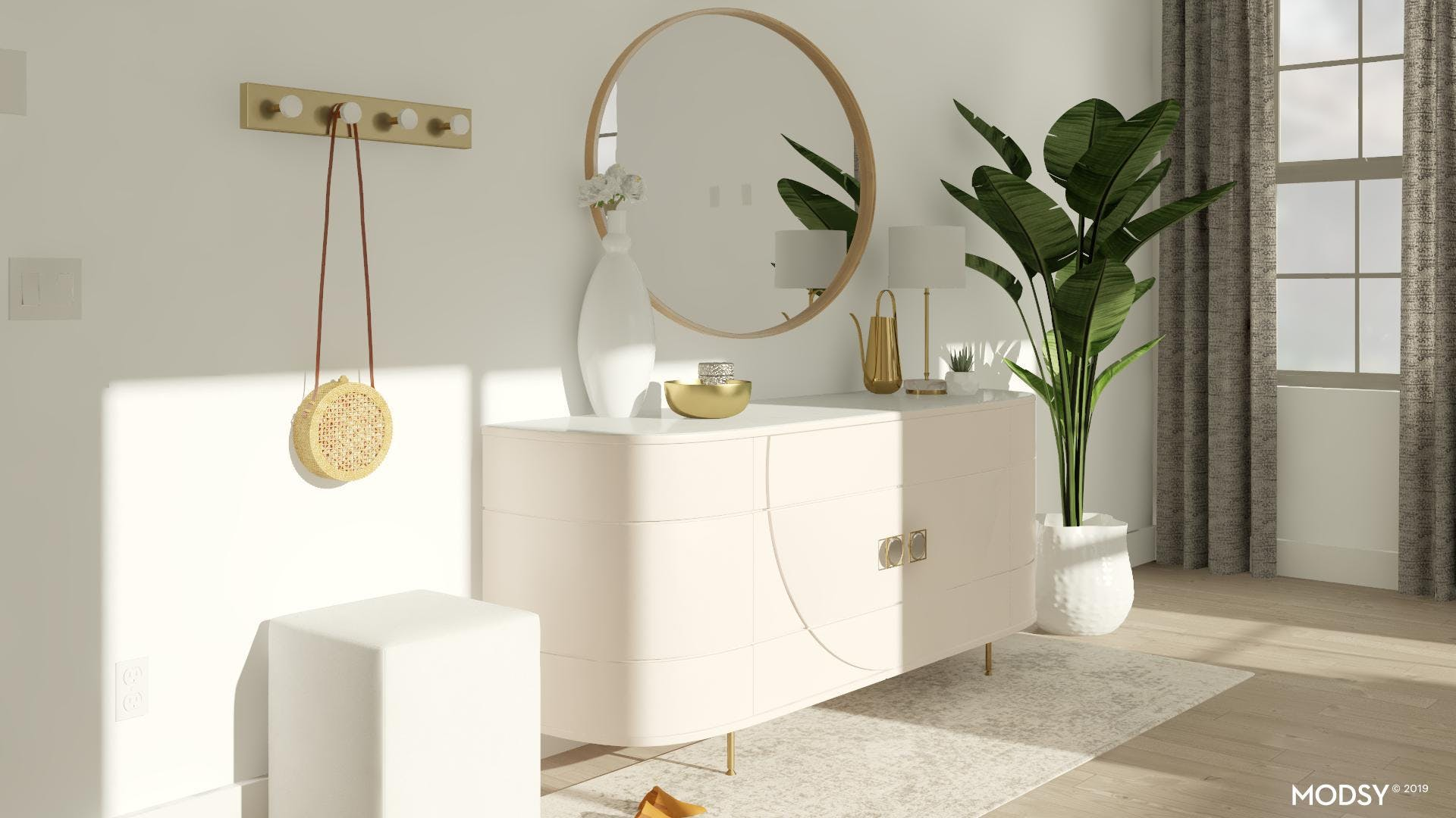 Entry Storage Solutions With A Modern Feminine Design