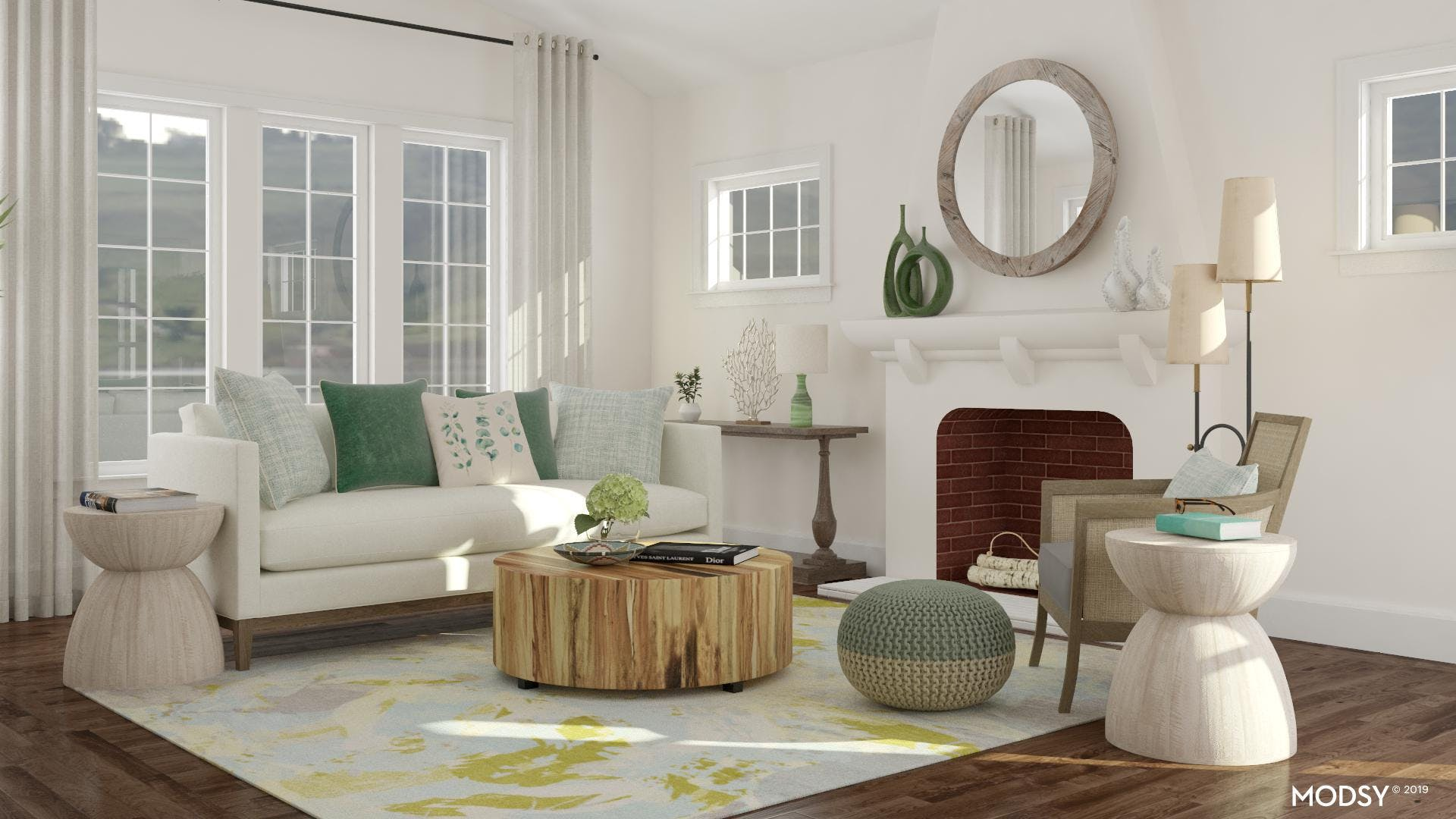 Powerful Punched Of Green In A Coastal Design
