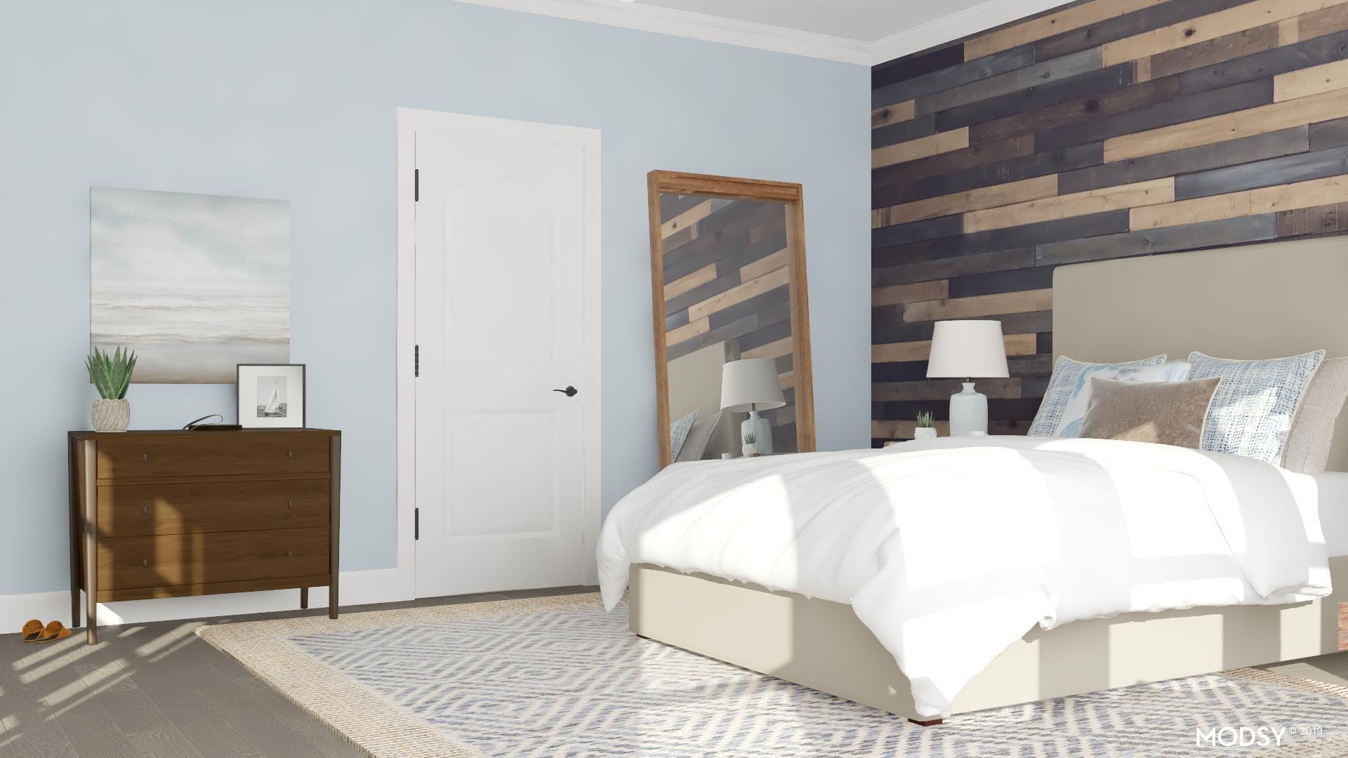 A Cozy Bedroom With Rustic Texture