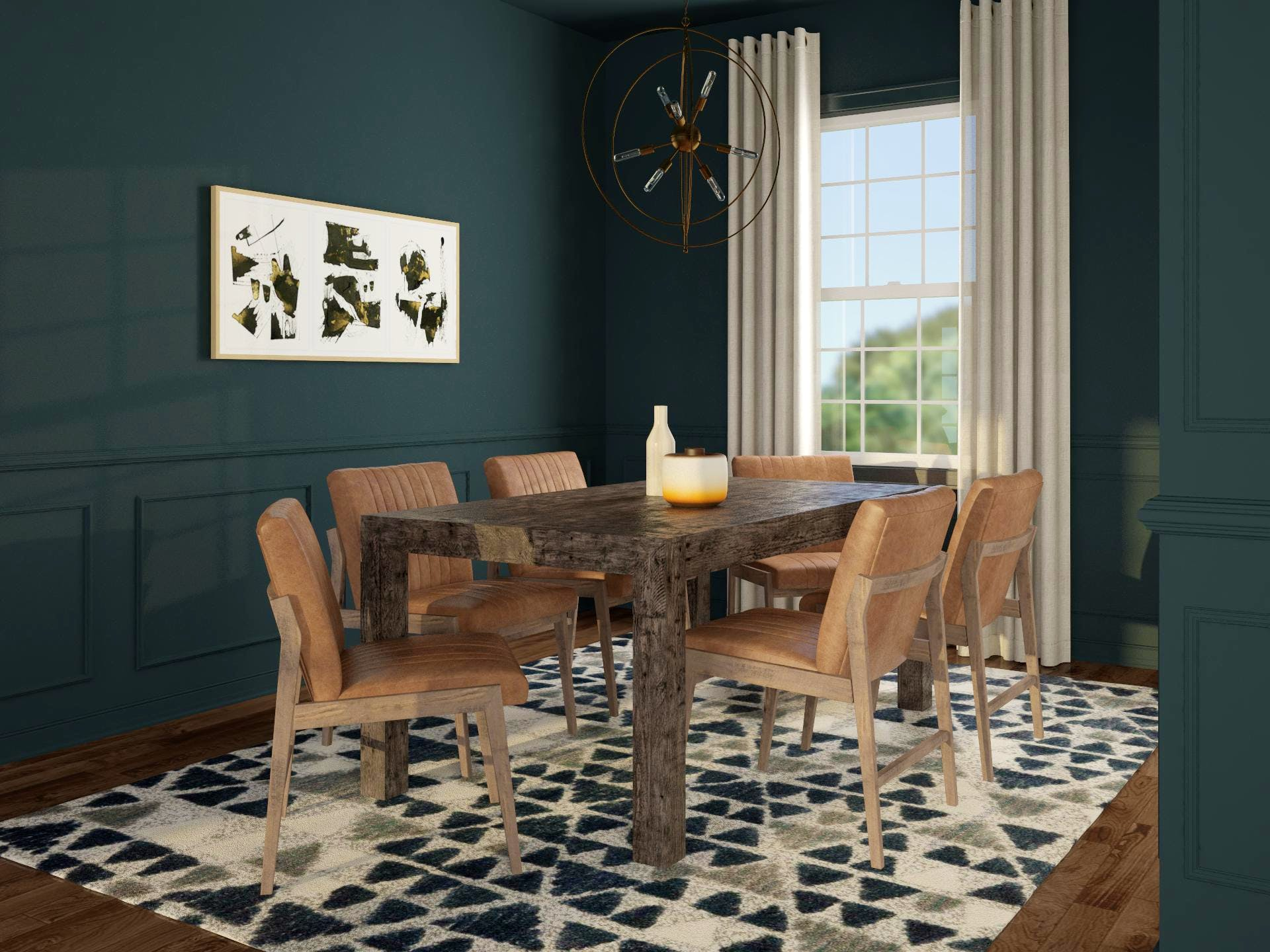 Edgy Contemporary Dining Room