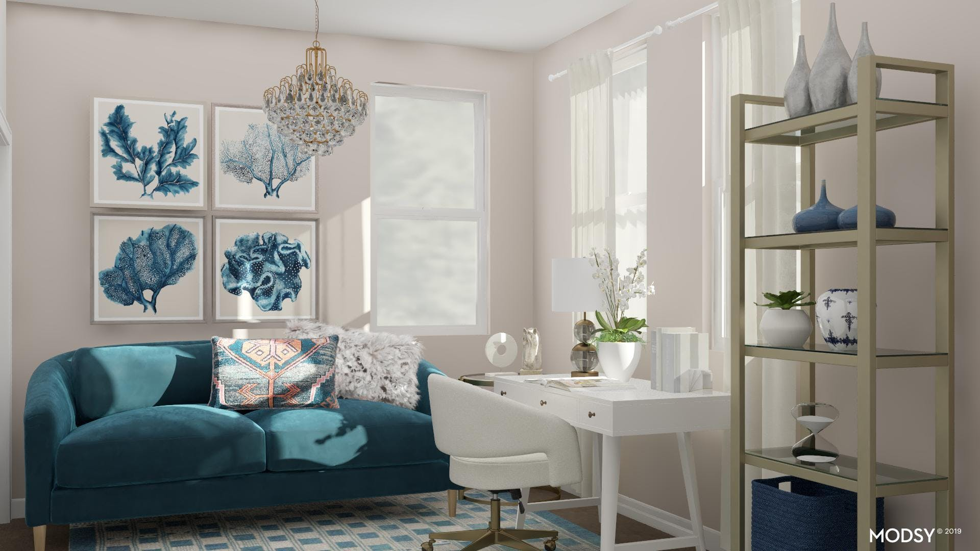 Coastal Glam Writing Lounge