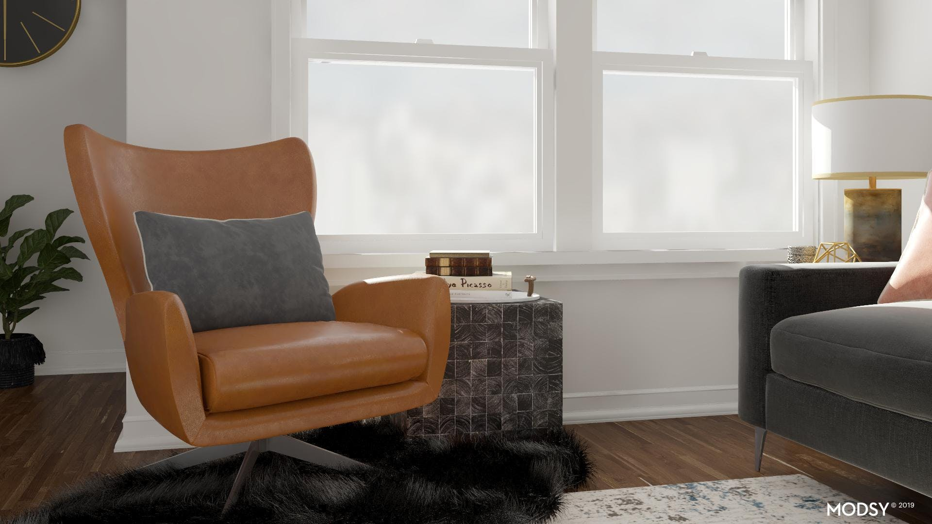 Glam Living Room with Earth Toned Accents