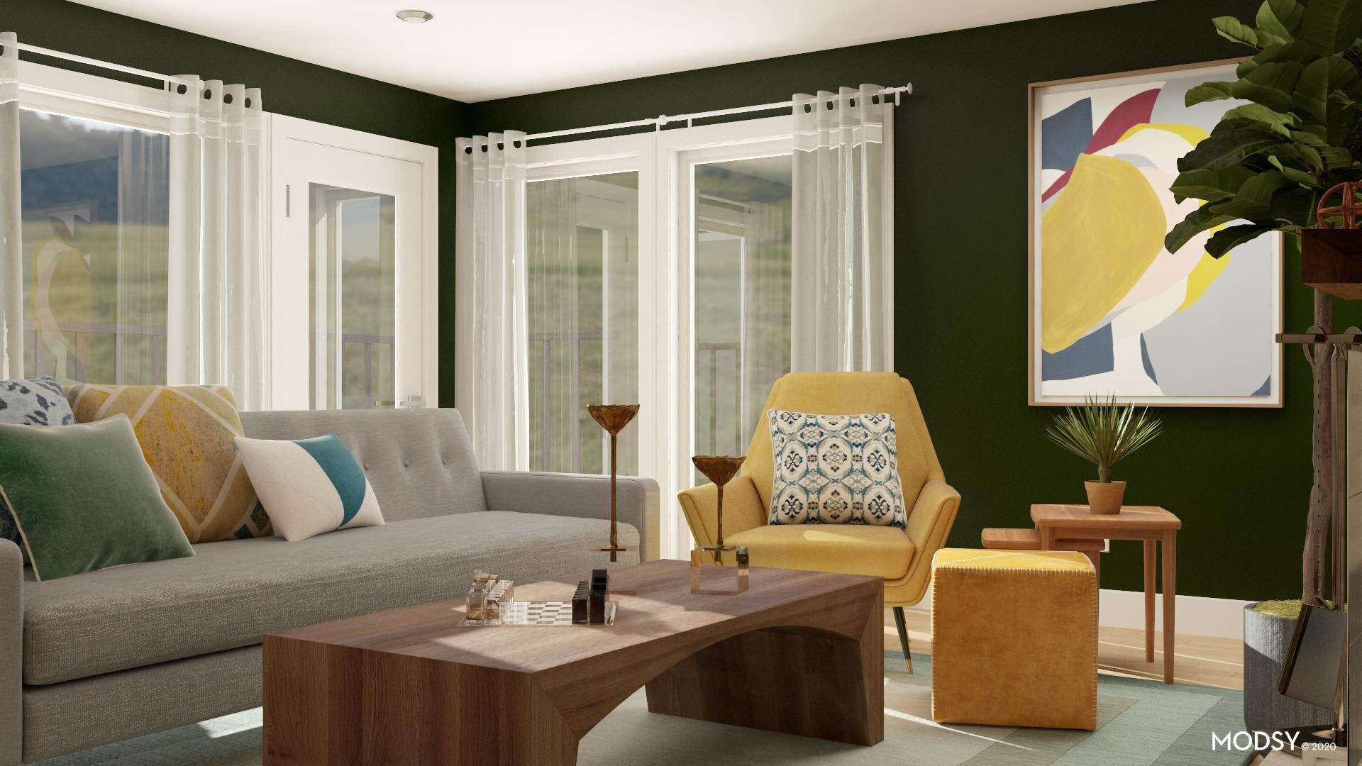 Emerald And Citrine Living Room