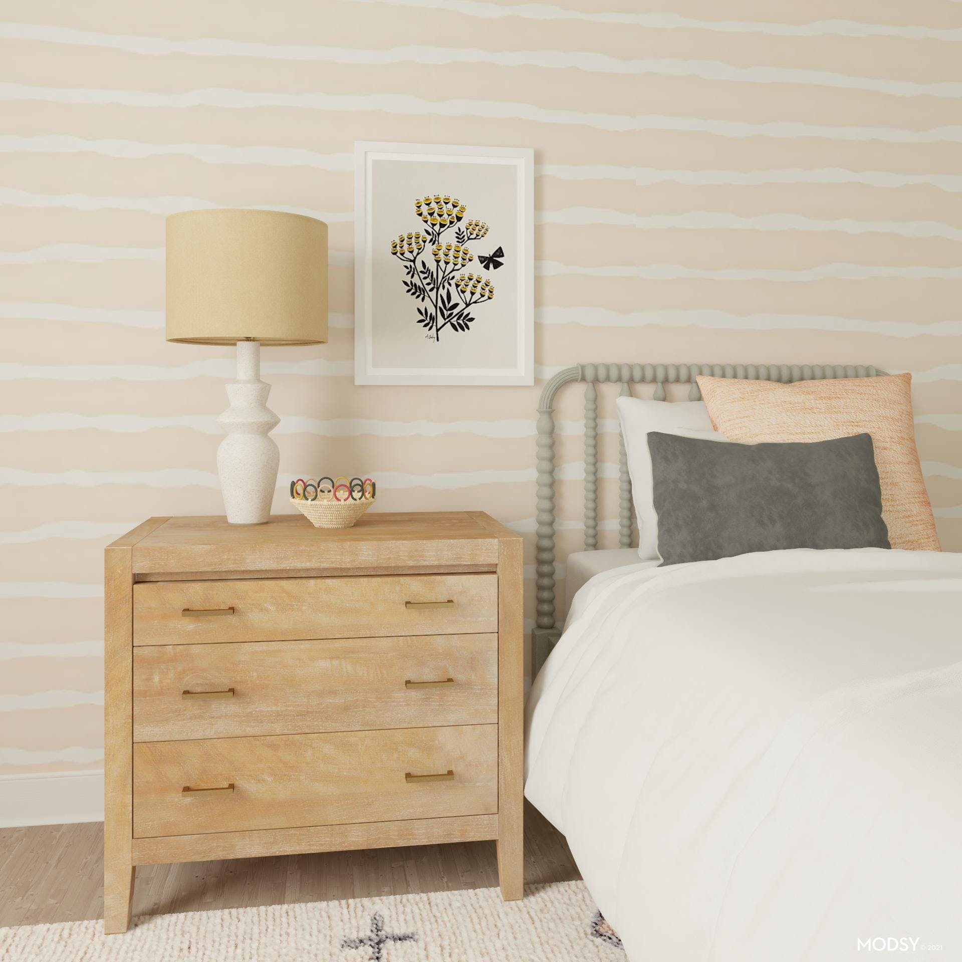 Blush Pink Kids Bedroom